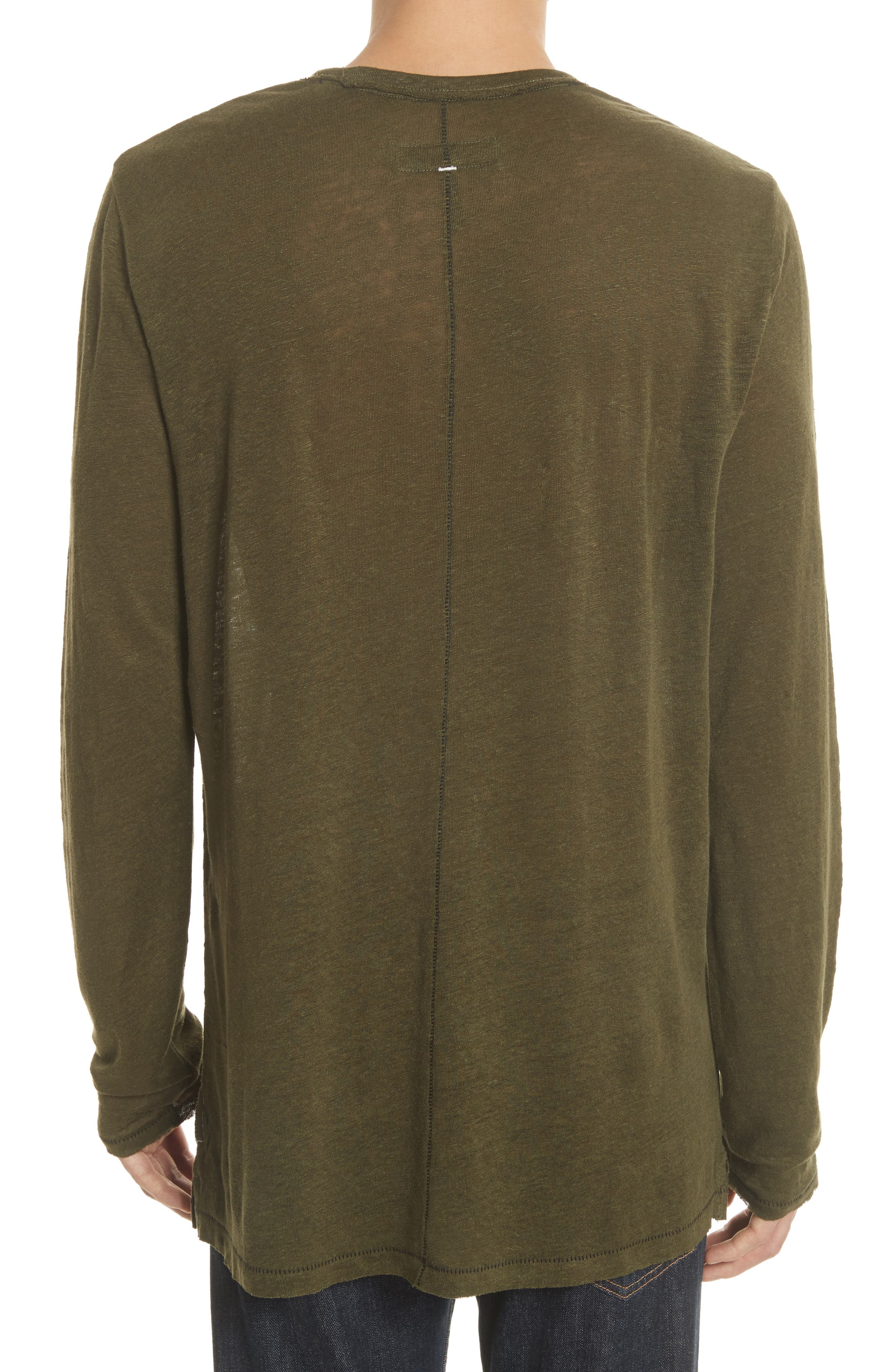 Owen Long Sleeve T-Shirt,                             Alternate thumbnail 2, color,                             Army