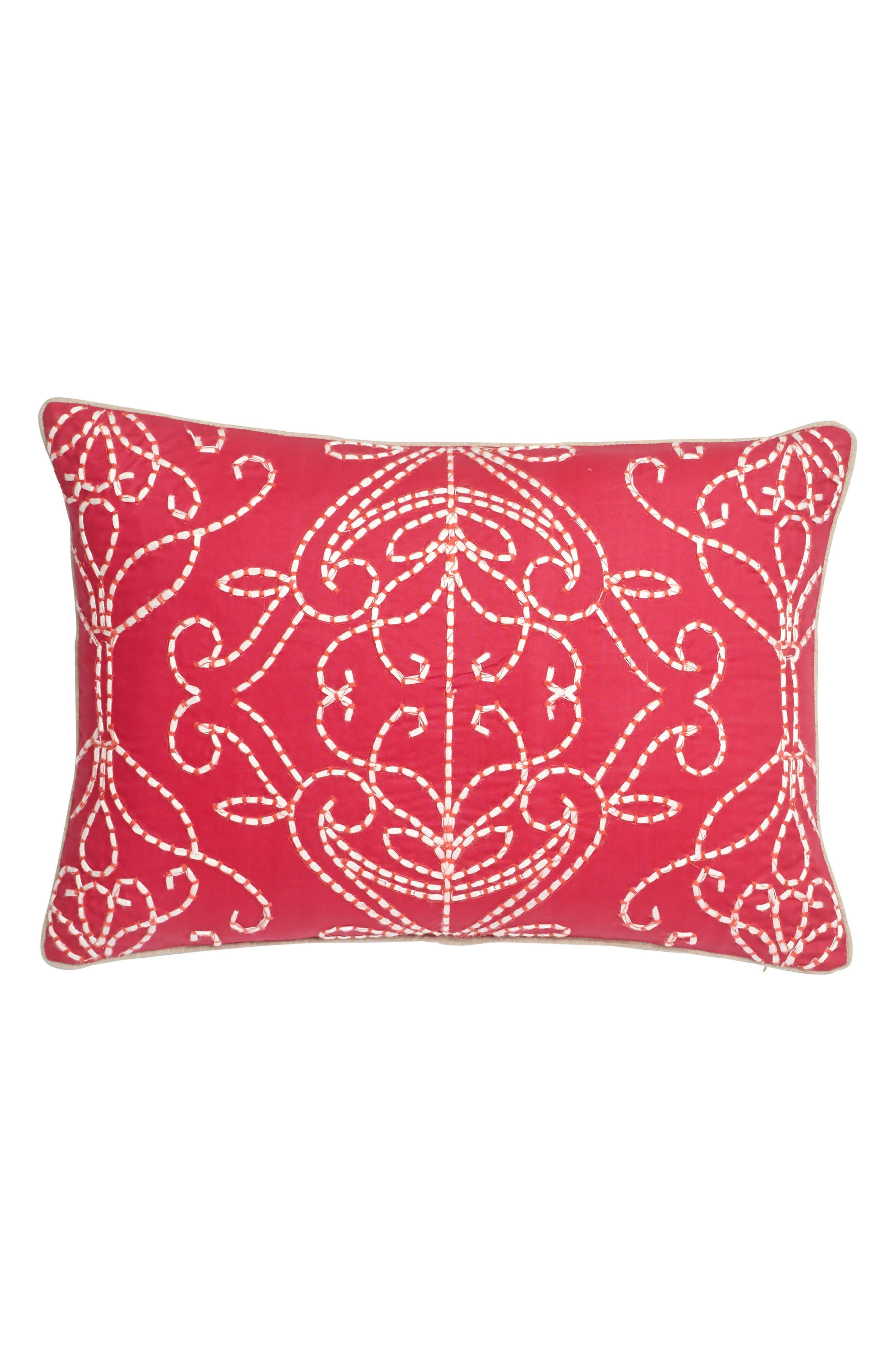 Paradise Accent Pillow,                         Main,                         color, Pink