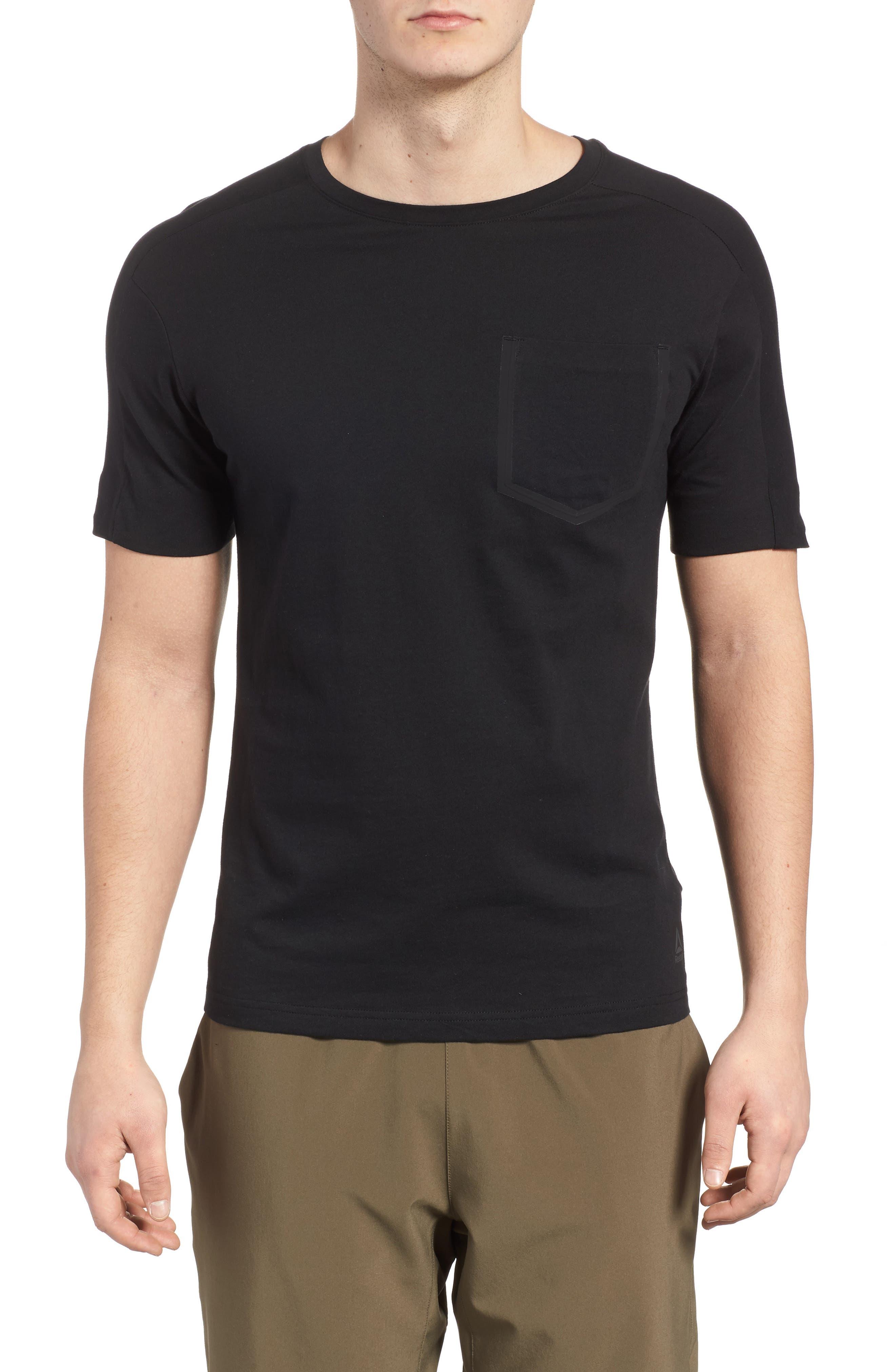 Training Supply Move Crewneck T-Shirt,                             Main thumbnail 1, color,                             Black