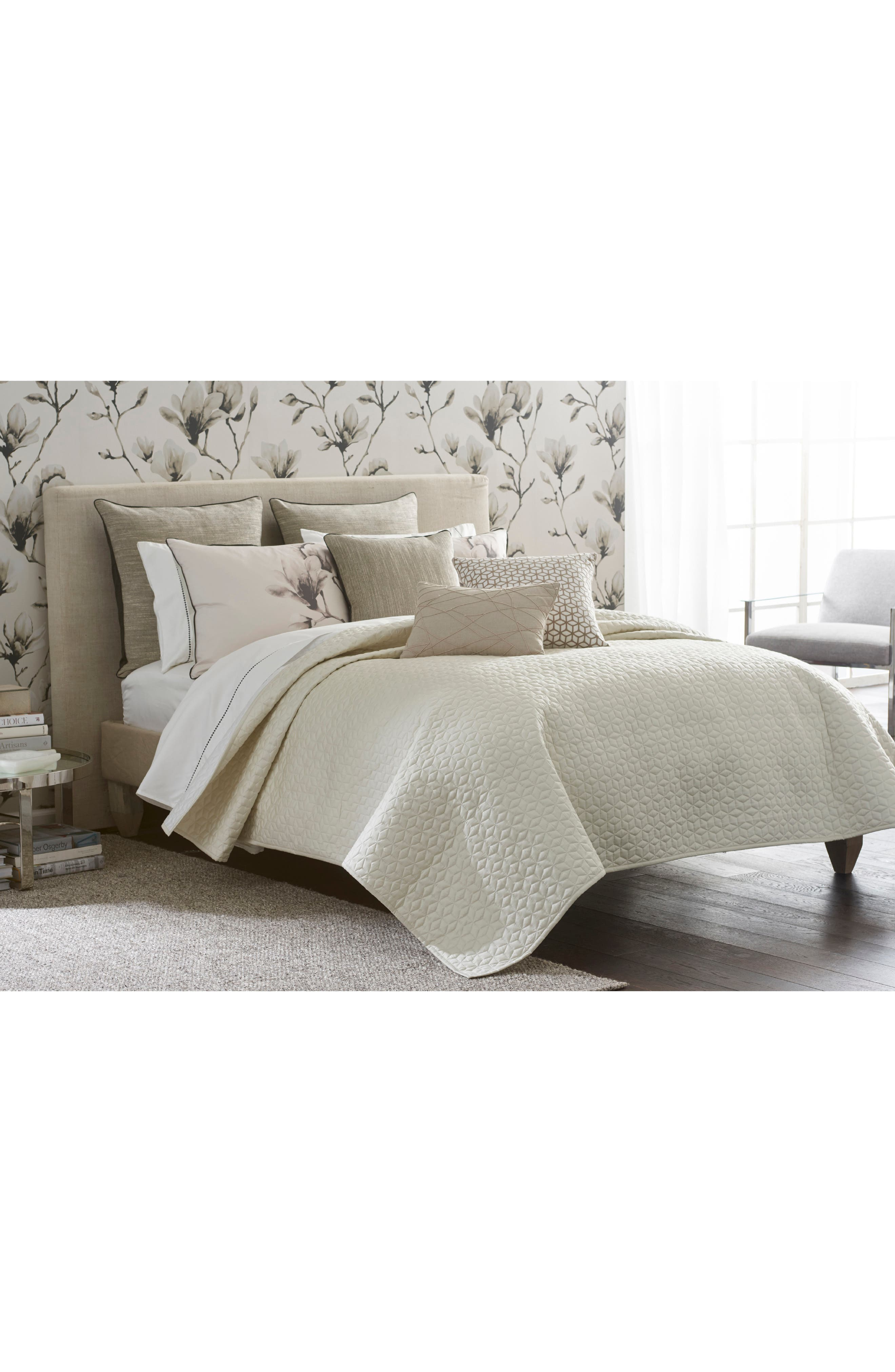 Lotus Coverlet,                             Main thumbnail 1, color,                             Taupe