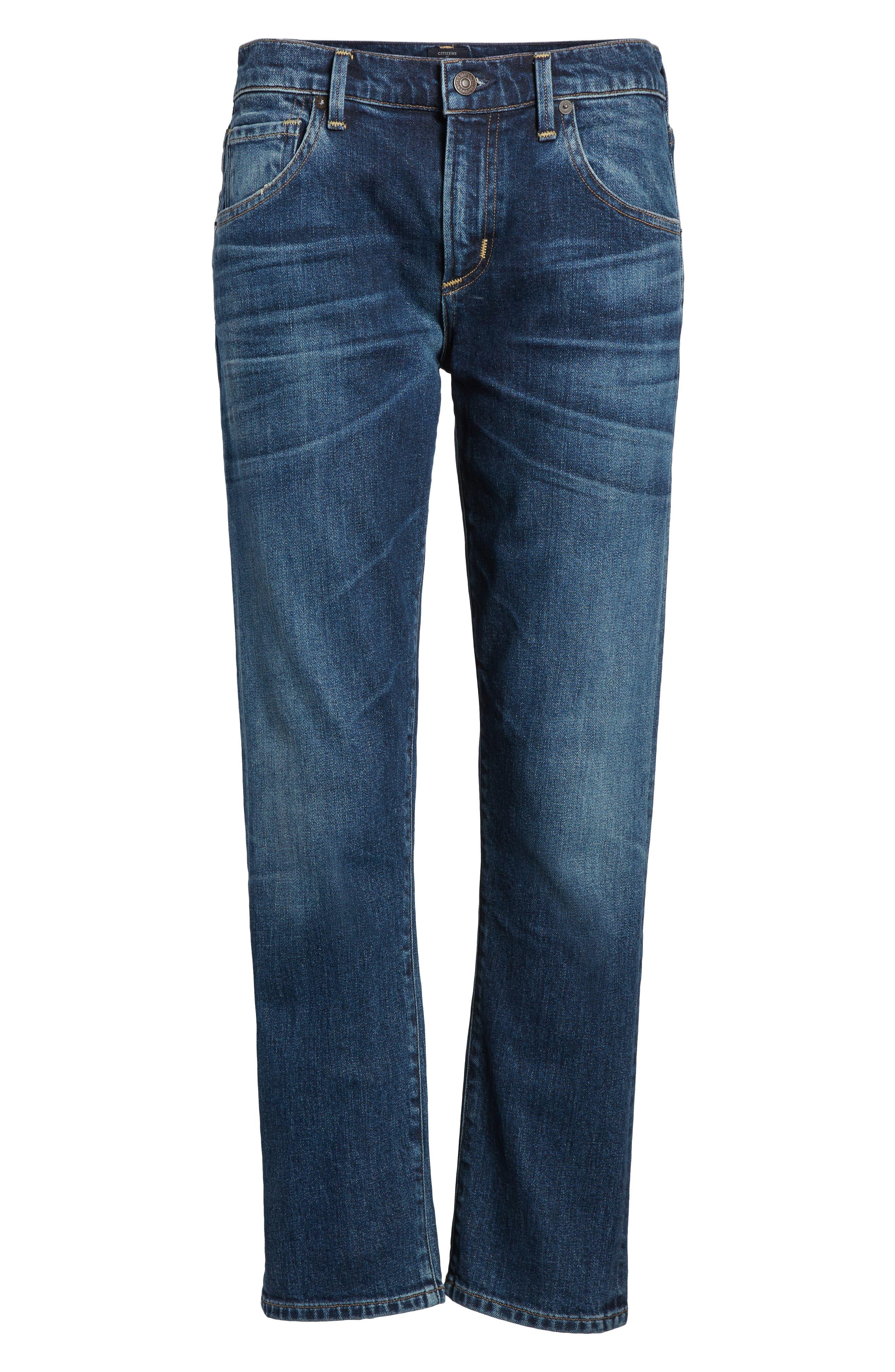 Emerson Slim Boyfriend Jeans,                             Alternate thumbnail 7, color,                             New Moon