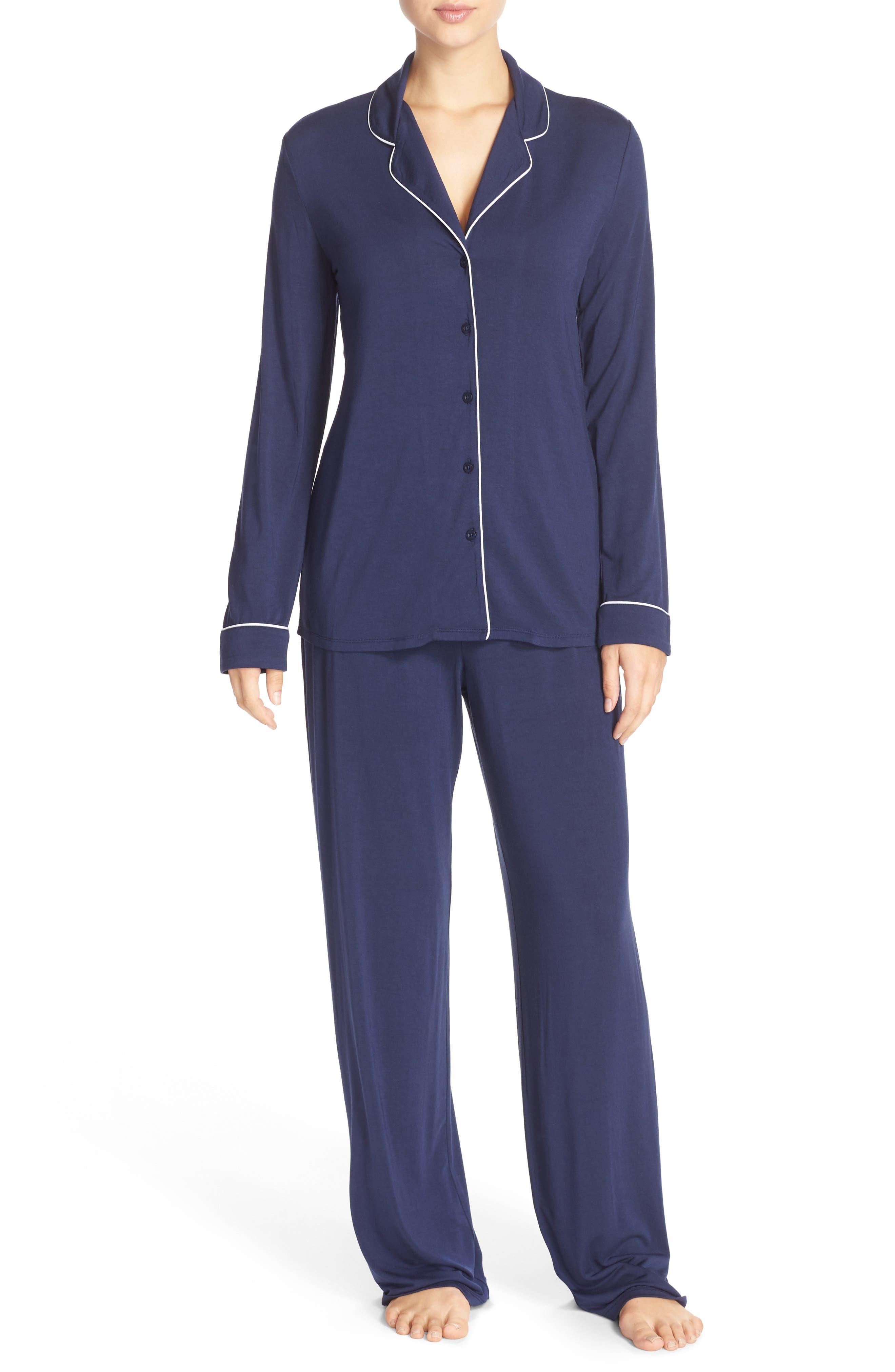 Moonlight Pajamas,                             Main thumbnail 1, color,                             Navy Peacoat
