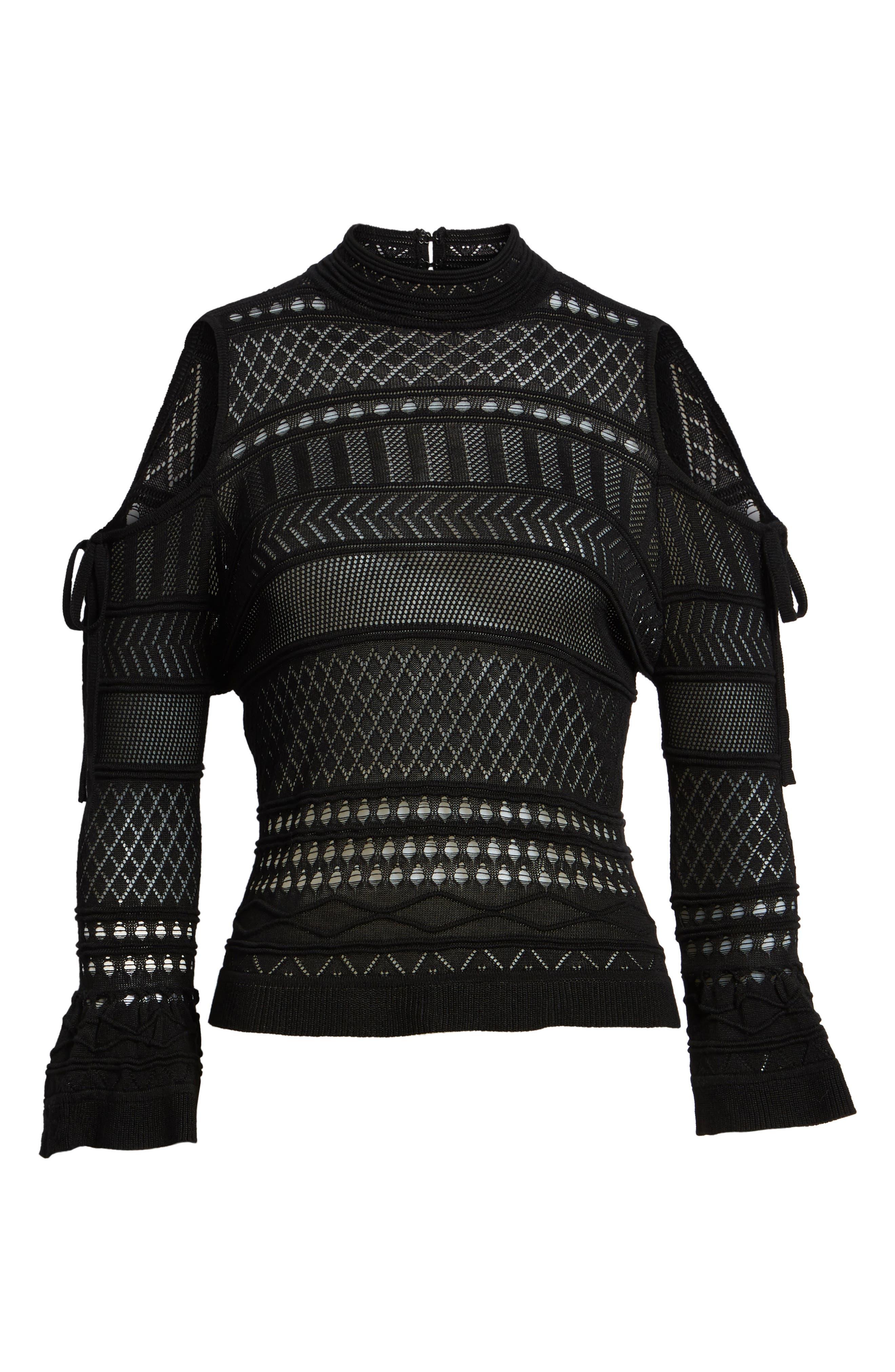 Alternate Image 6  - Lira Clothing Annabel Cold Shoulder Pointelle Sweater