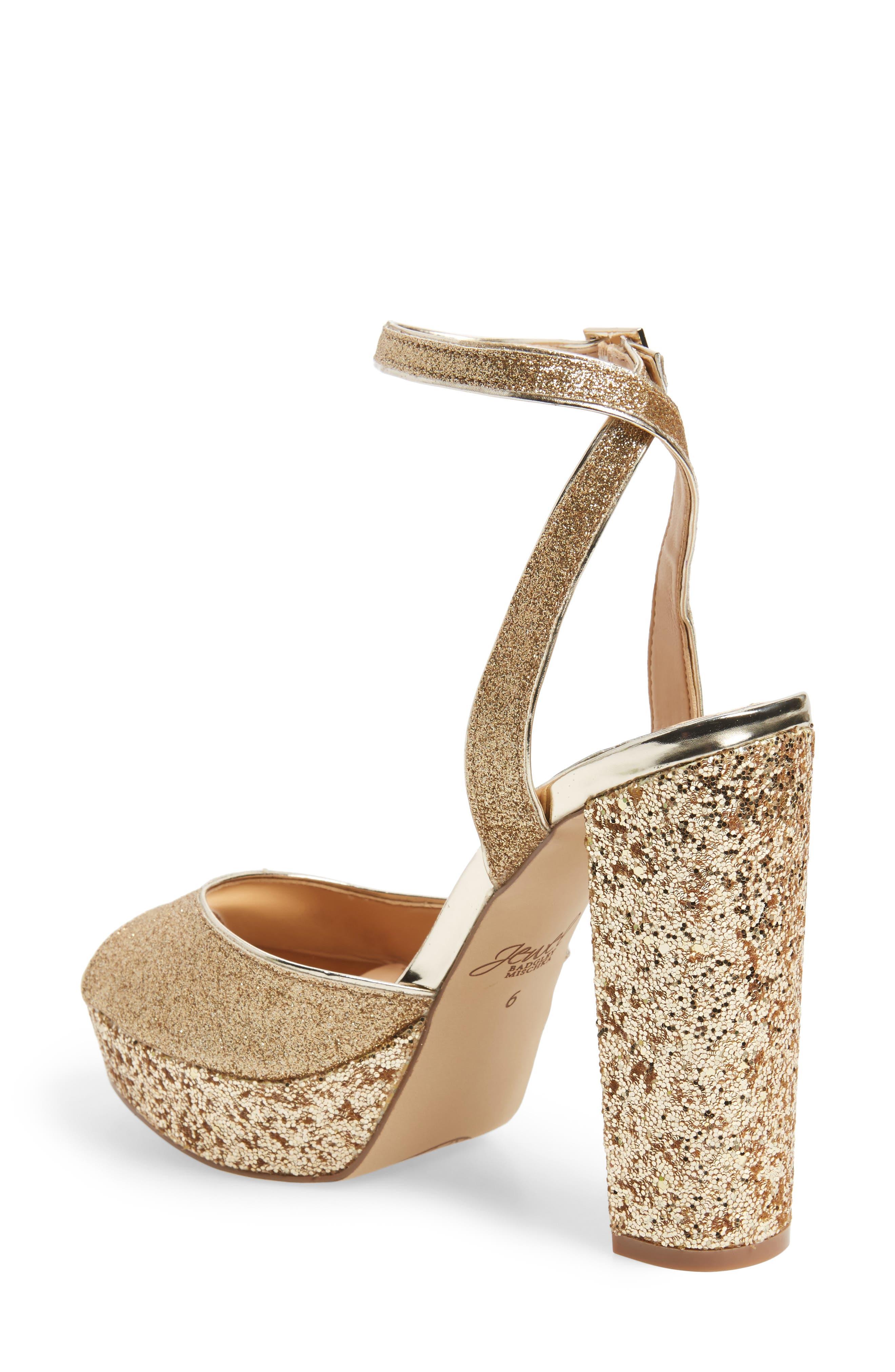 Alternate Image 2  - Jewel Badgley Mischka Luke Platform Sandal (Women)