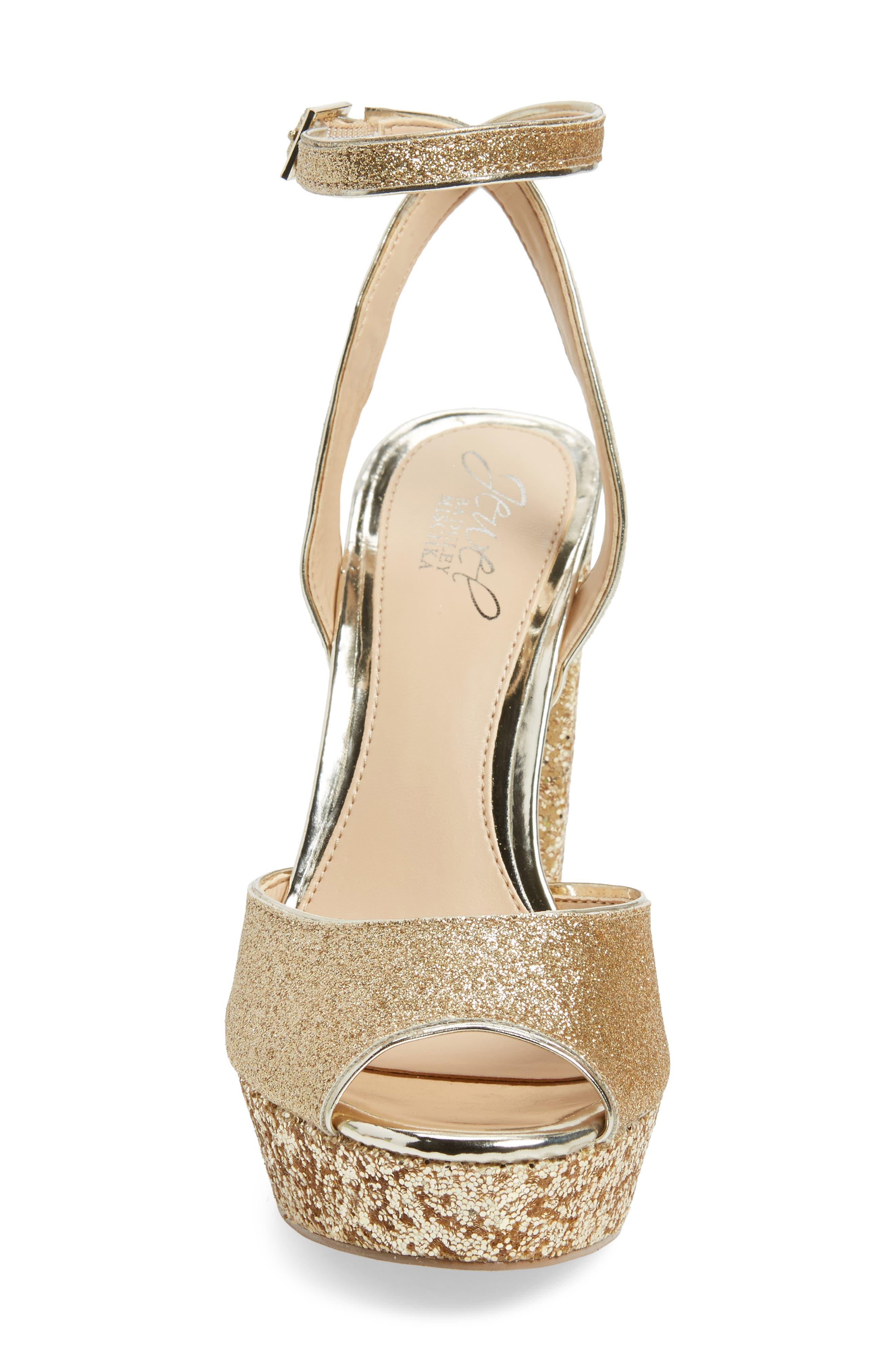 Alternate Image 4  - Jewel Badgley Mischka Luke Platform Sandal (Women)