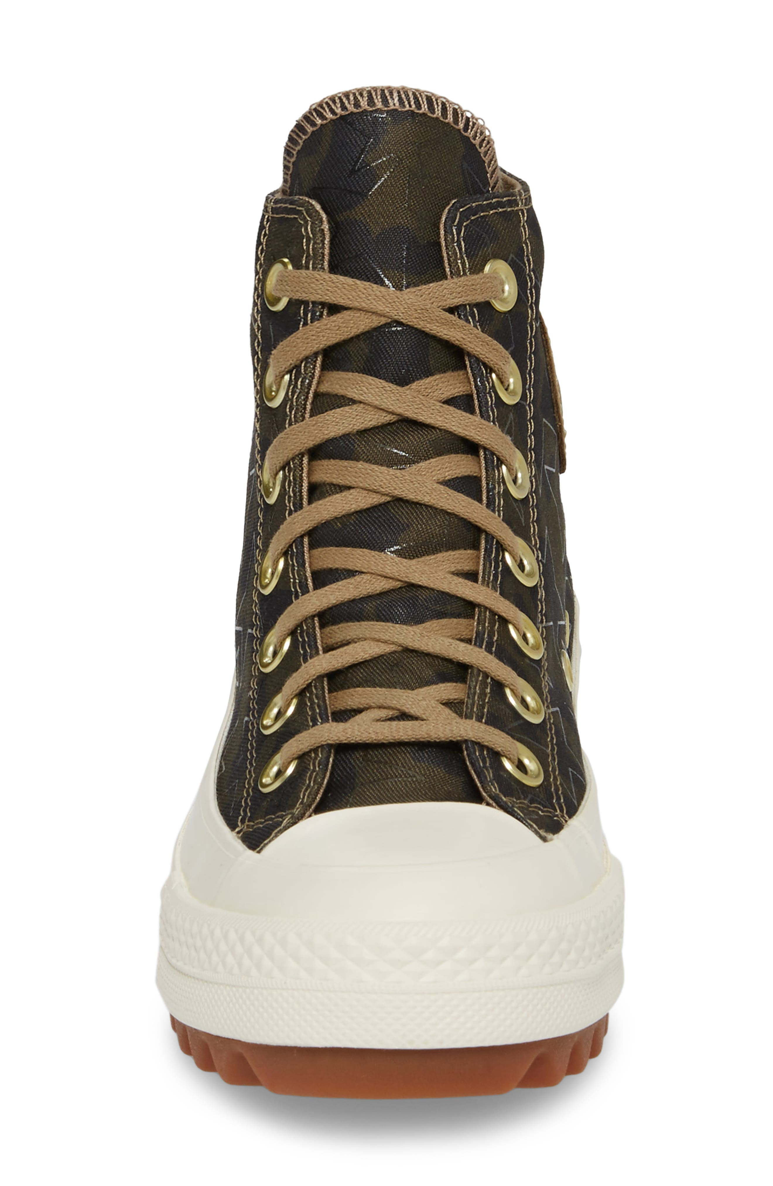 Chuck Taylor<sup>®</sup> All Star<sup>®</sup> Lift Ripple High Top Sneaker,                             Alternate thumbnail 4, color,                             Khaki