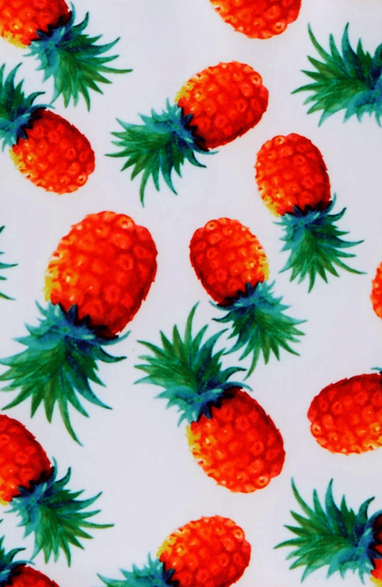 Pineapple Disco Two-Piece Rashguard Swimsuit,                             Alternate thumbnail 2, color,                             White Multi