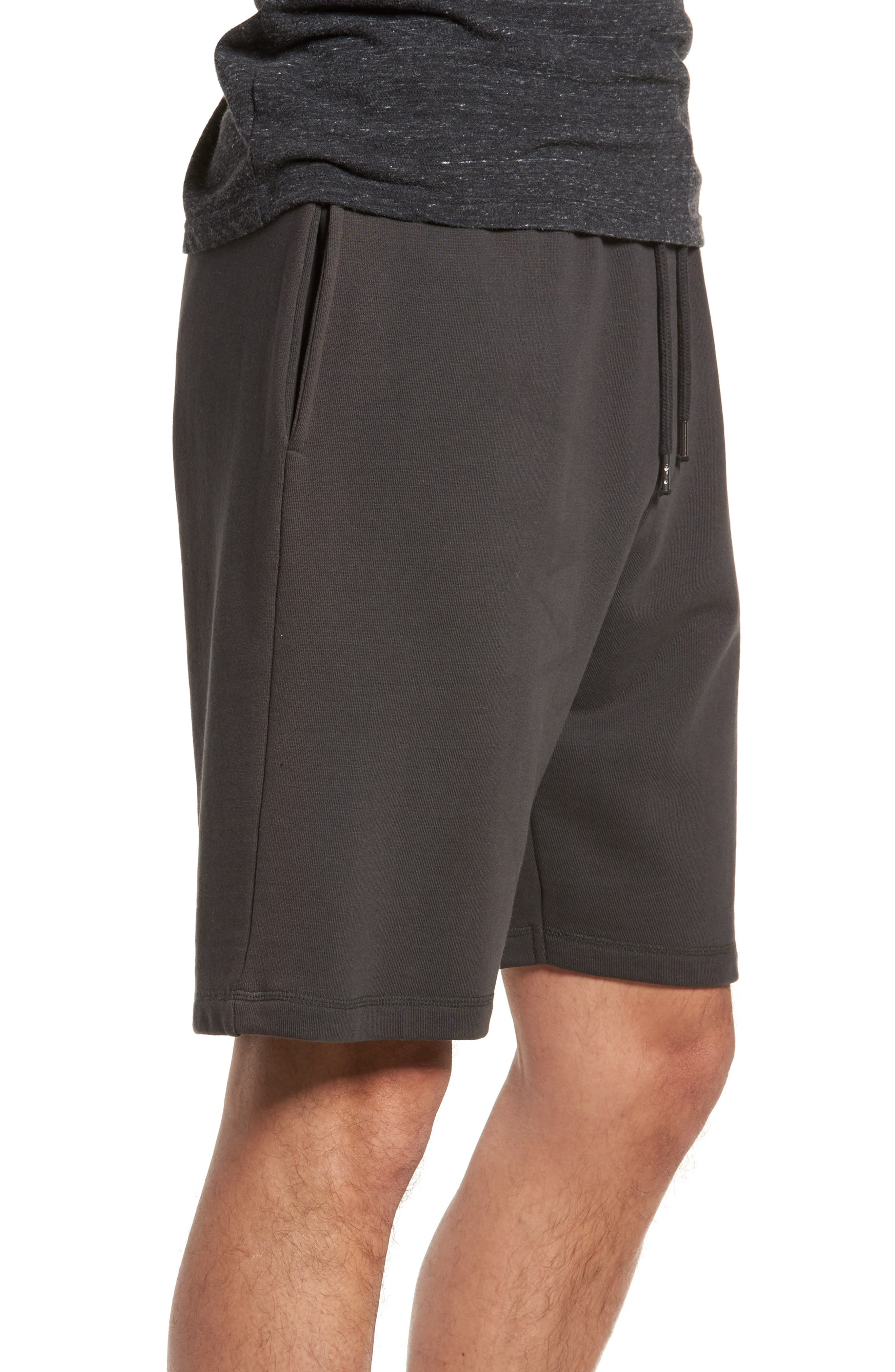 Marty Fleece Shorts,                             Alternate thumbnail 3, color,                             Pirate Black