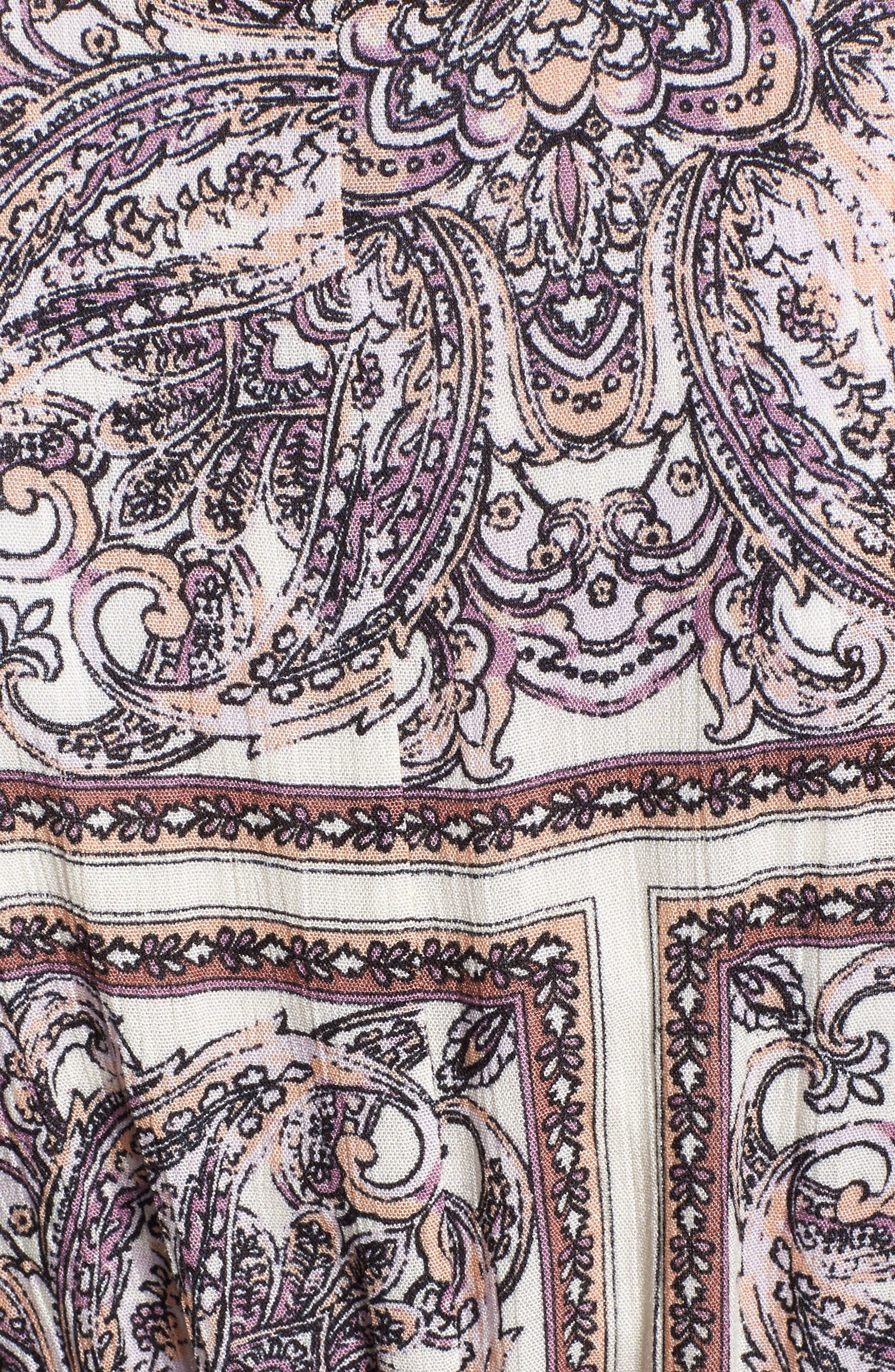 Royal Tiles Cover-Up Kimono,                             Alternate thumbnail 5, color,                             Ivory Combo