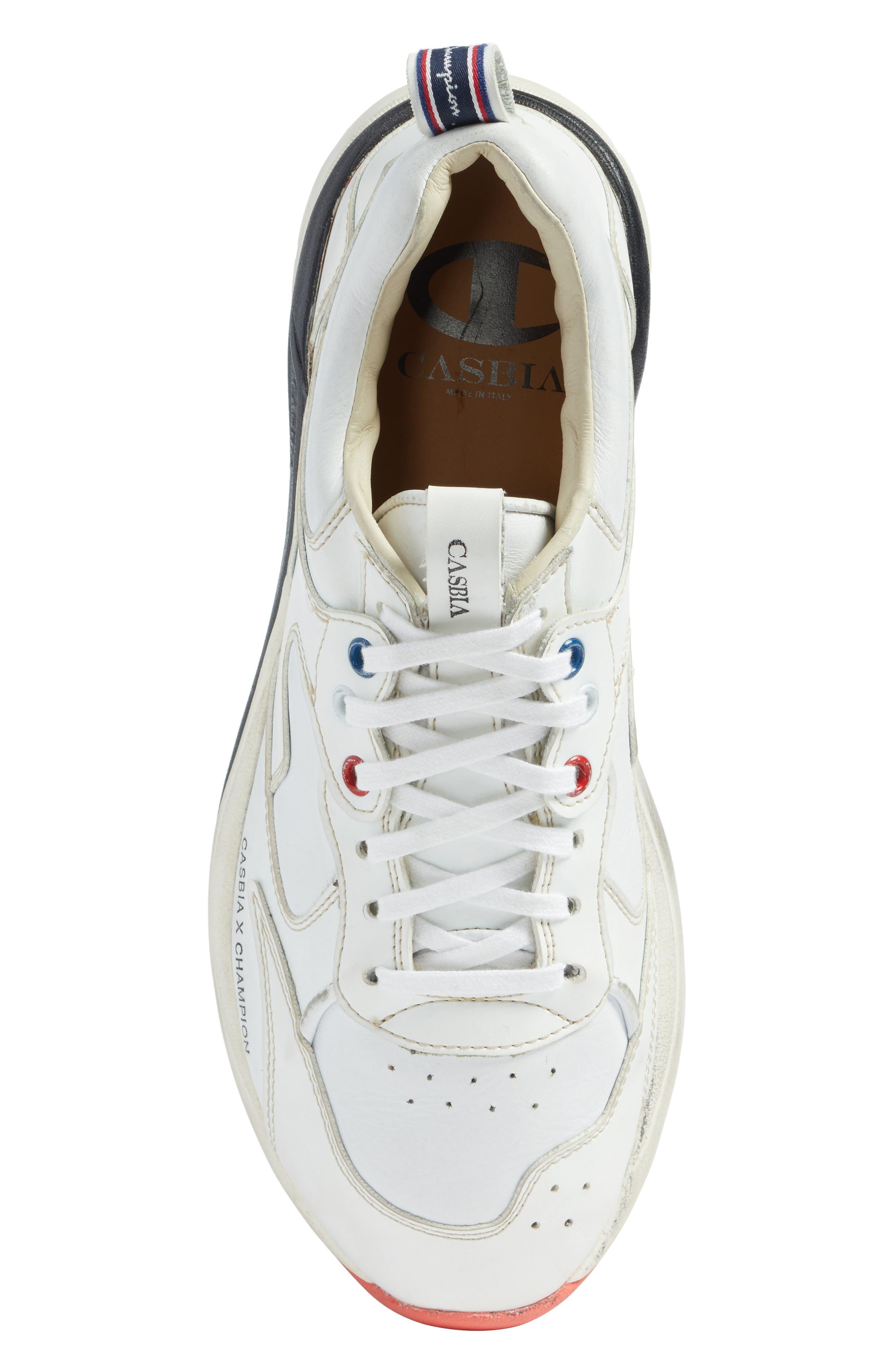 Champion Veloce ATL Sneaker,                             Alternate thumbnail 5, color,                             White Leather