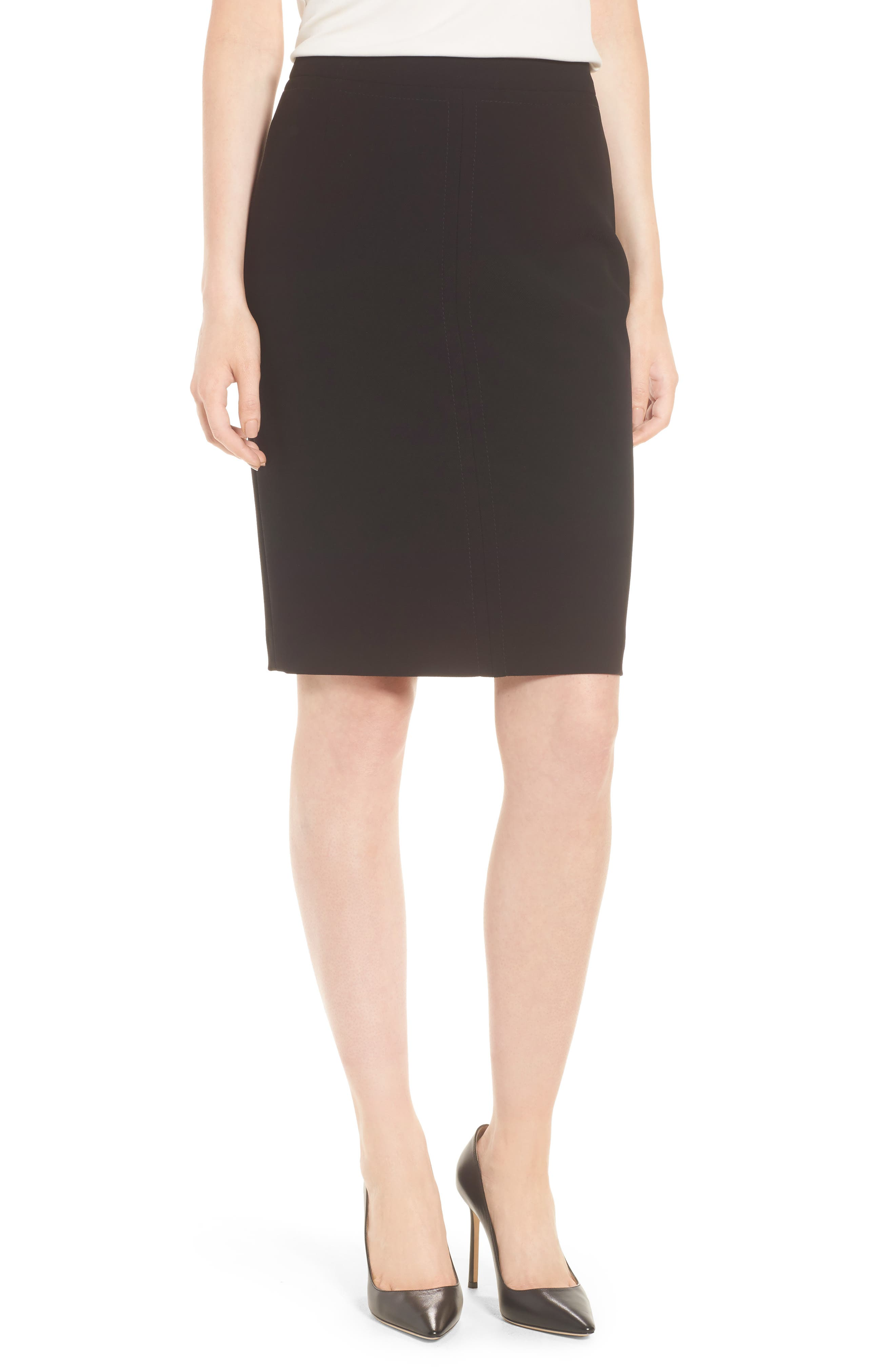 Vuriona Pencil Skirt,                             Main thumbnail 1, color,                             Black
