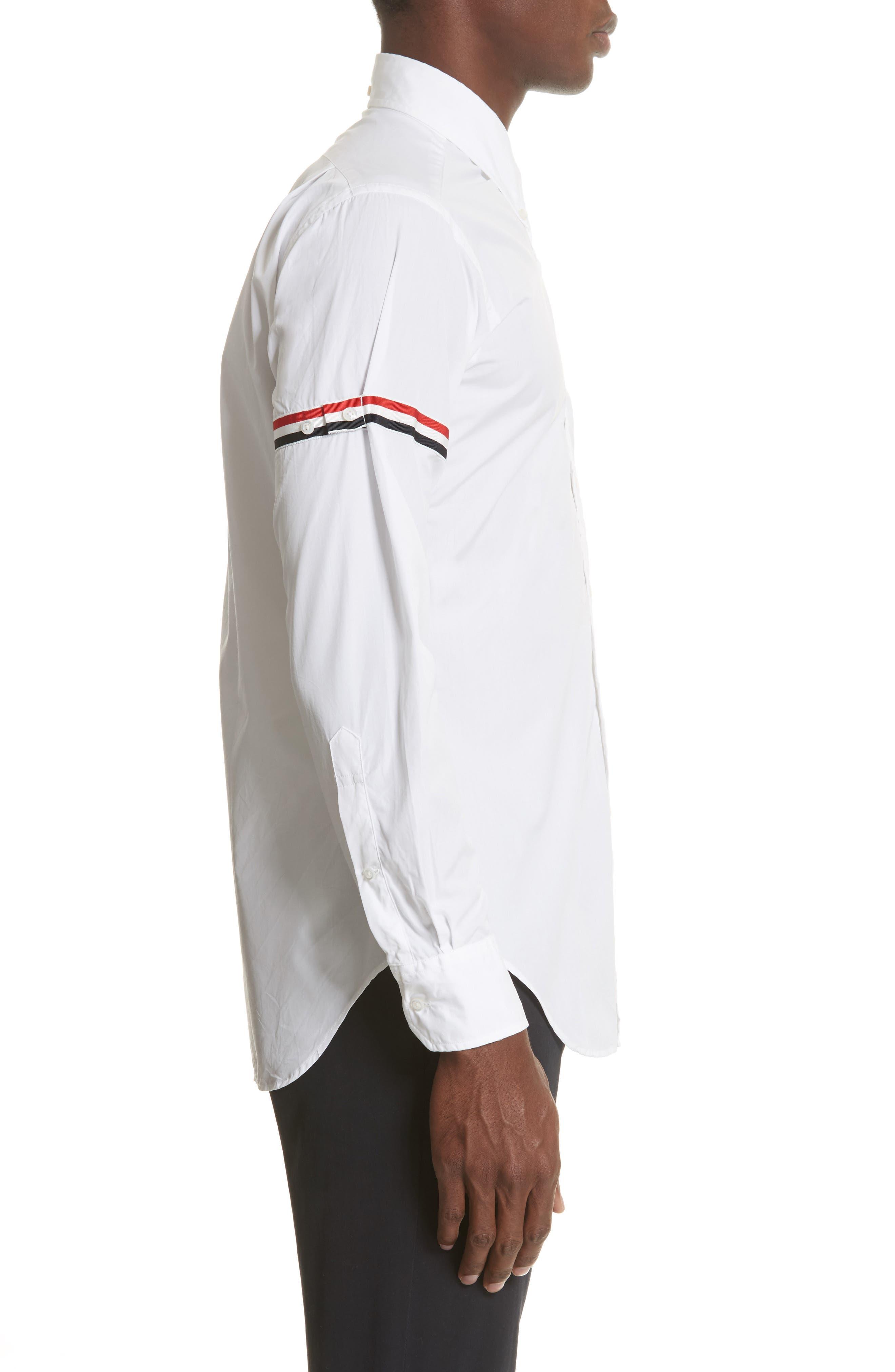 Woven Shirt,                             Alternate thumbnail 4, color,                             Off White