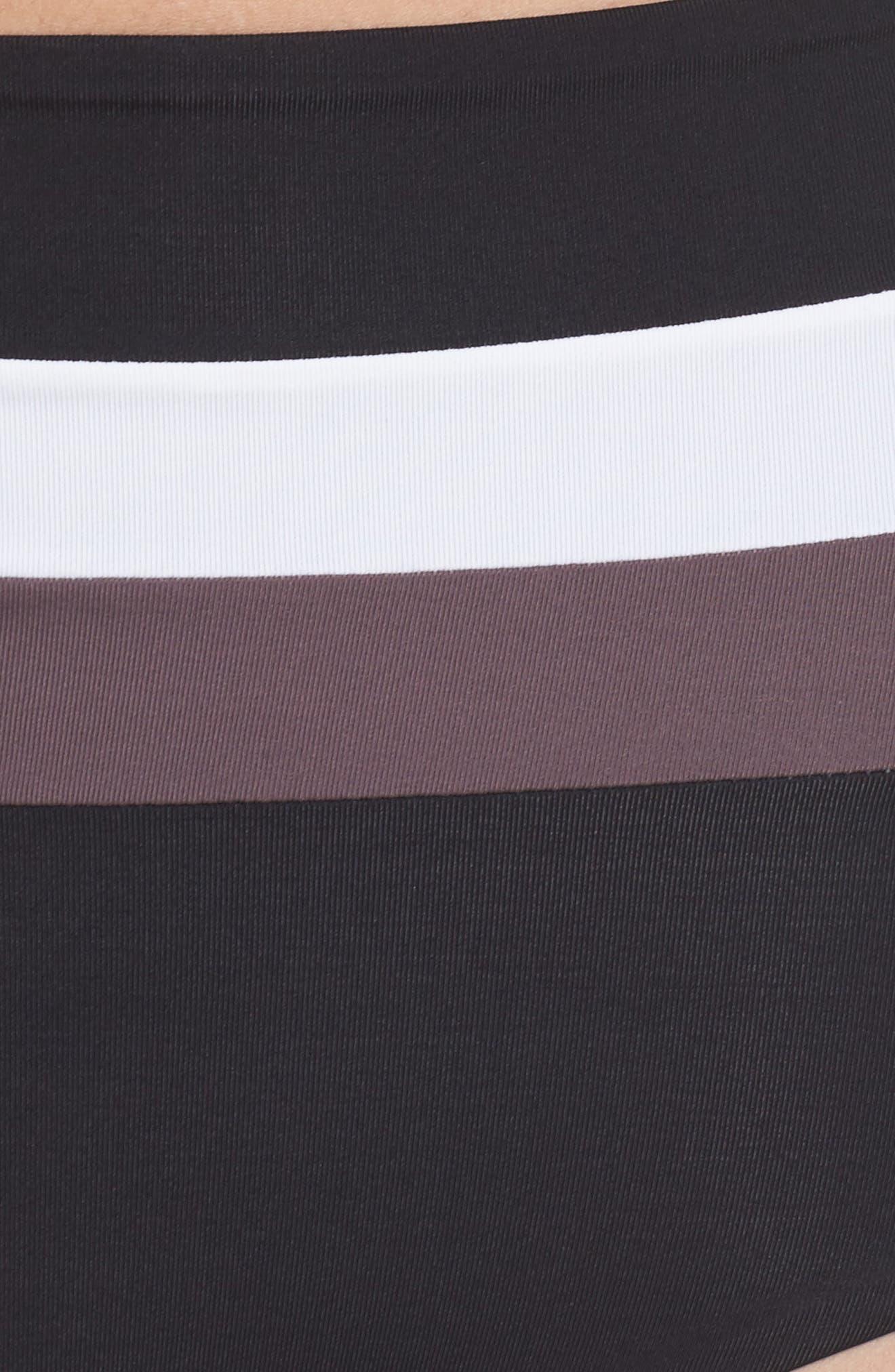 Portia Reversible Colorblock Bikini Bottoms,                             Alternate thumbnail 9, color,                             Black