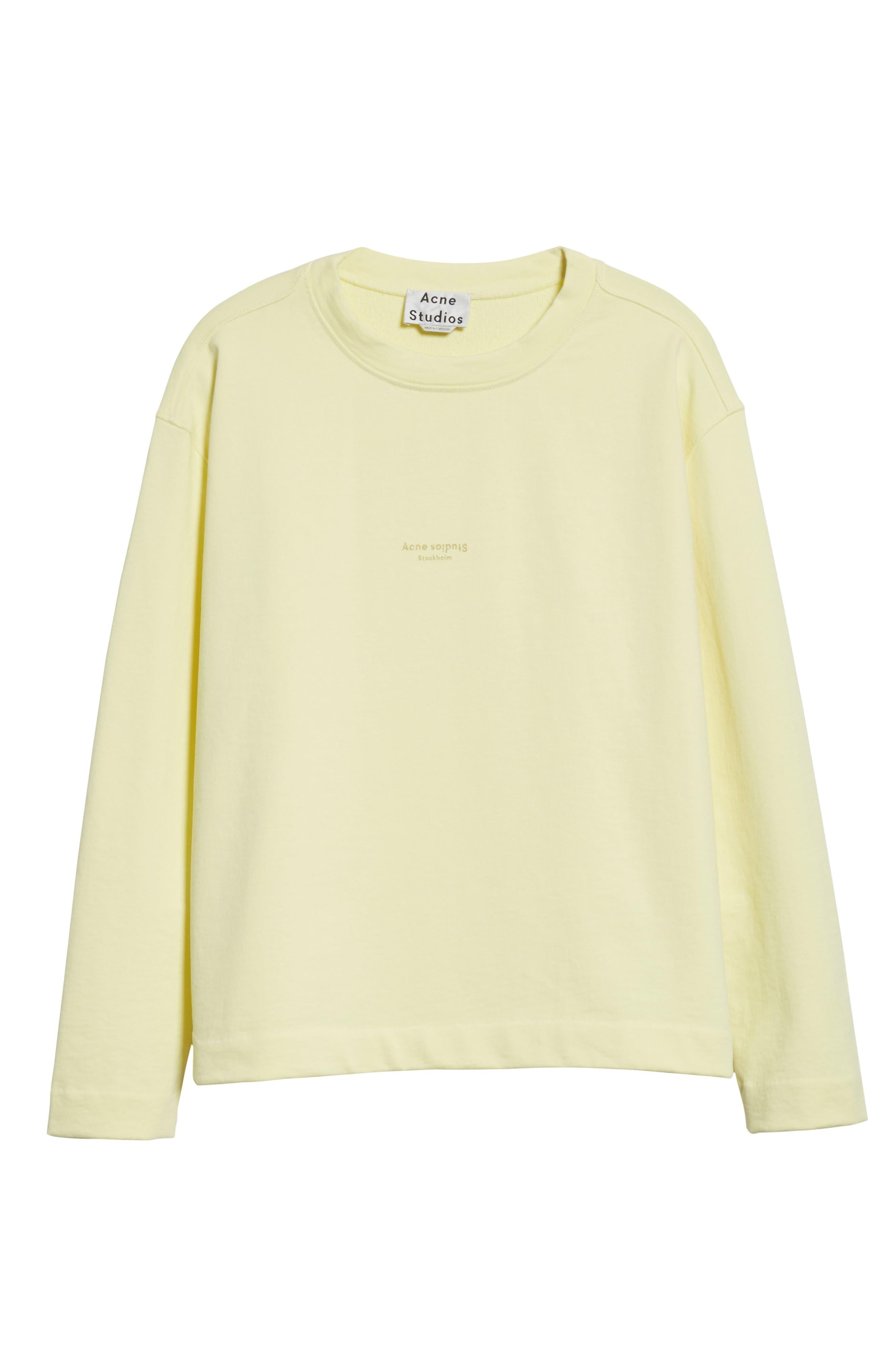 Lynn Small Logo Sweatshirt,                             Alternate thumbnail 6, color,                             Pale Yellow