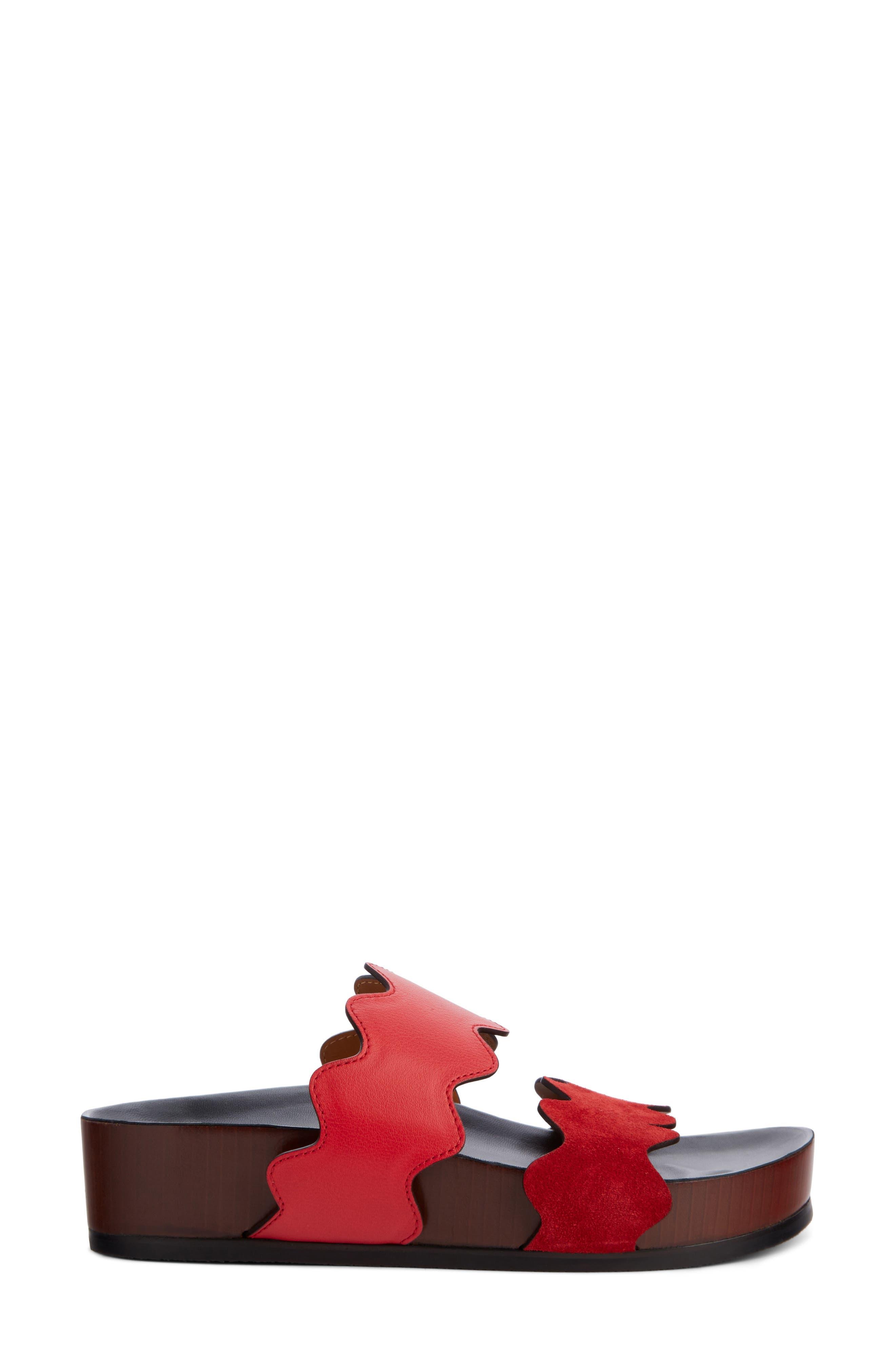 Lauren Platform Sandal,                             Alternate thumbnail 4, color,                             Gipsy Red