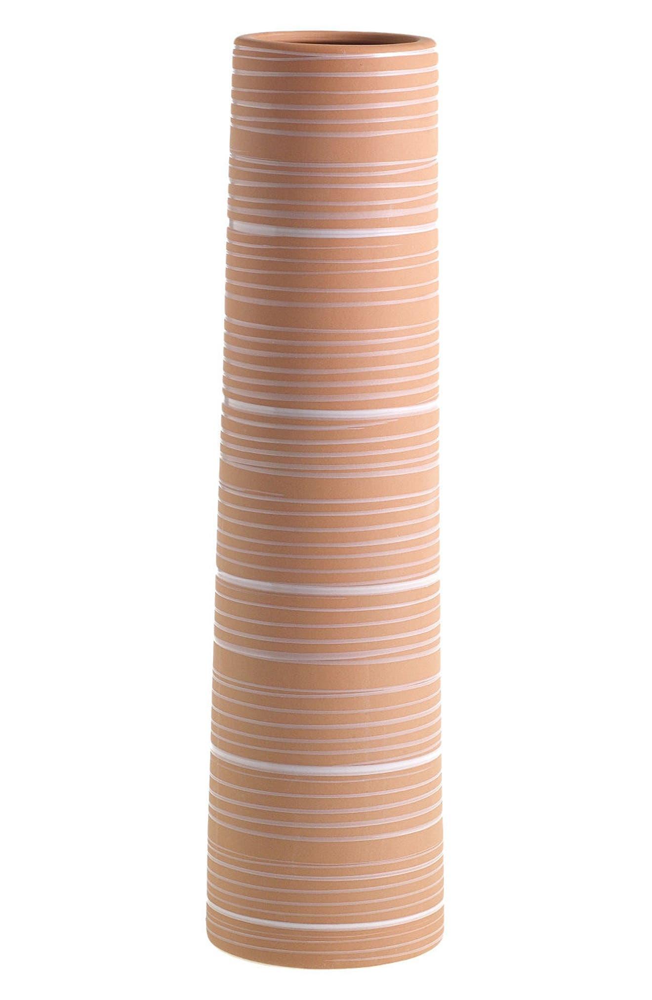 Terra Cotta Vase,                             Main thumbnail 1, color,                             Orange