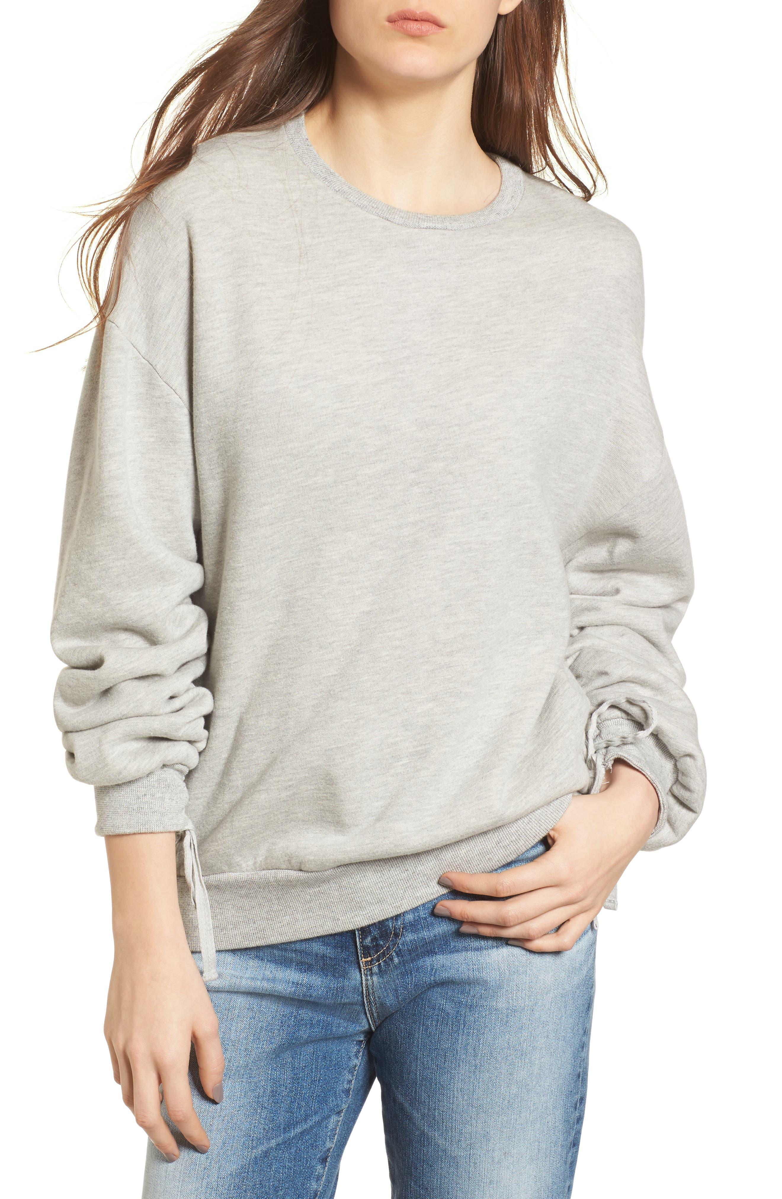 Karis Sweatshirt,                         Main,                         color, Heather Grey