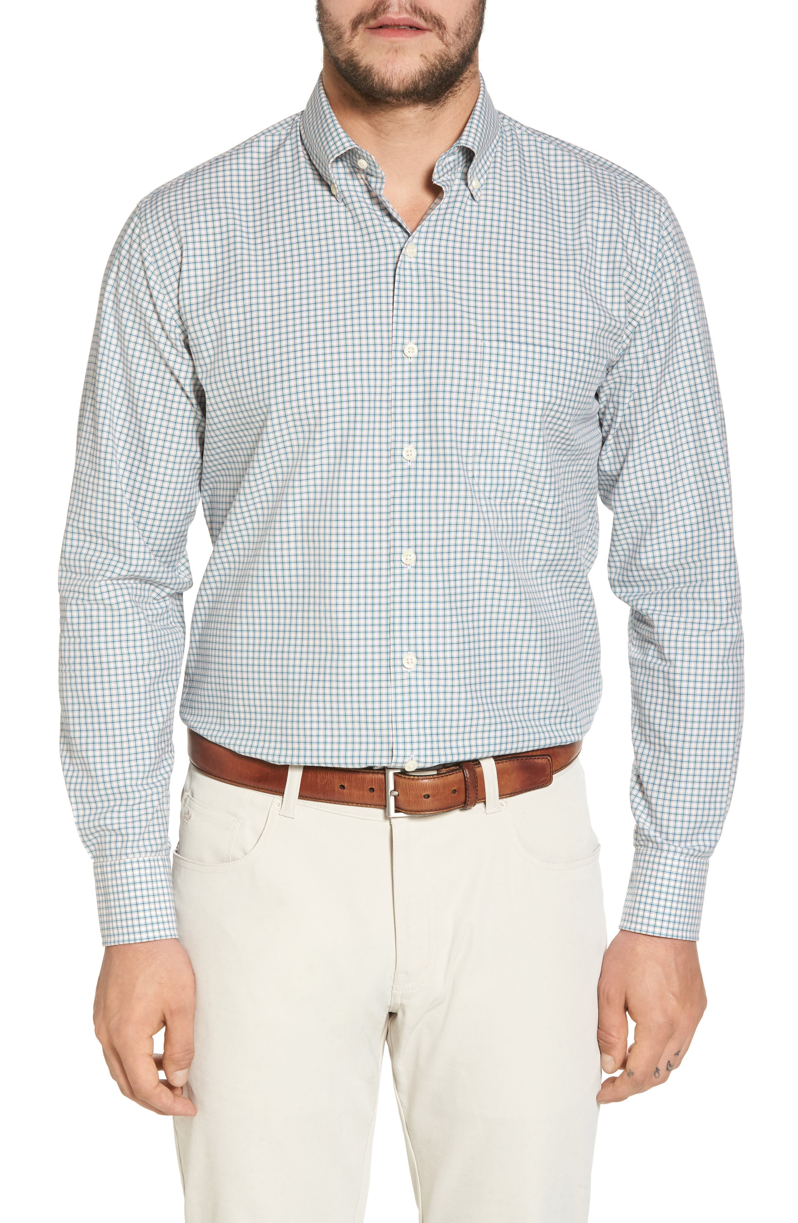 Classic Fit Alligator Check Sport Shirt,                             Main thumbnail 1, color,                             Dreamsicle