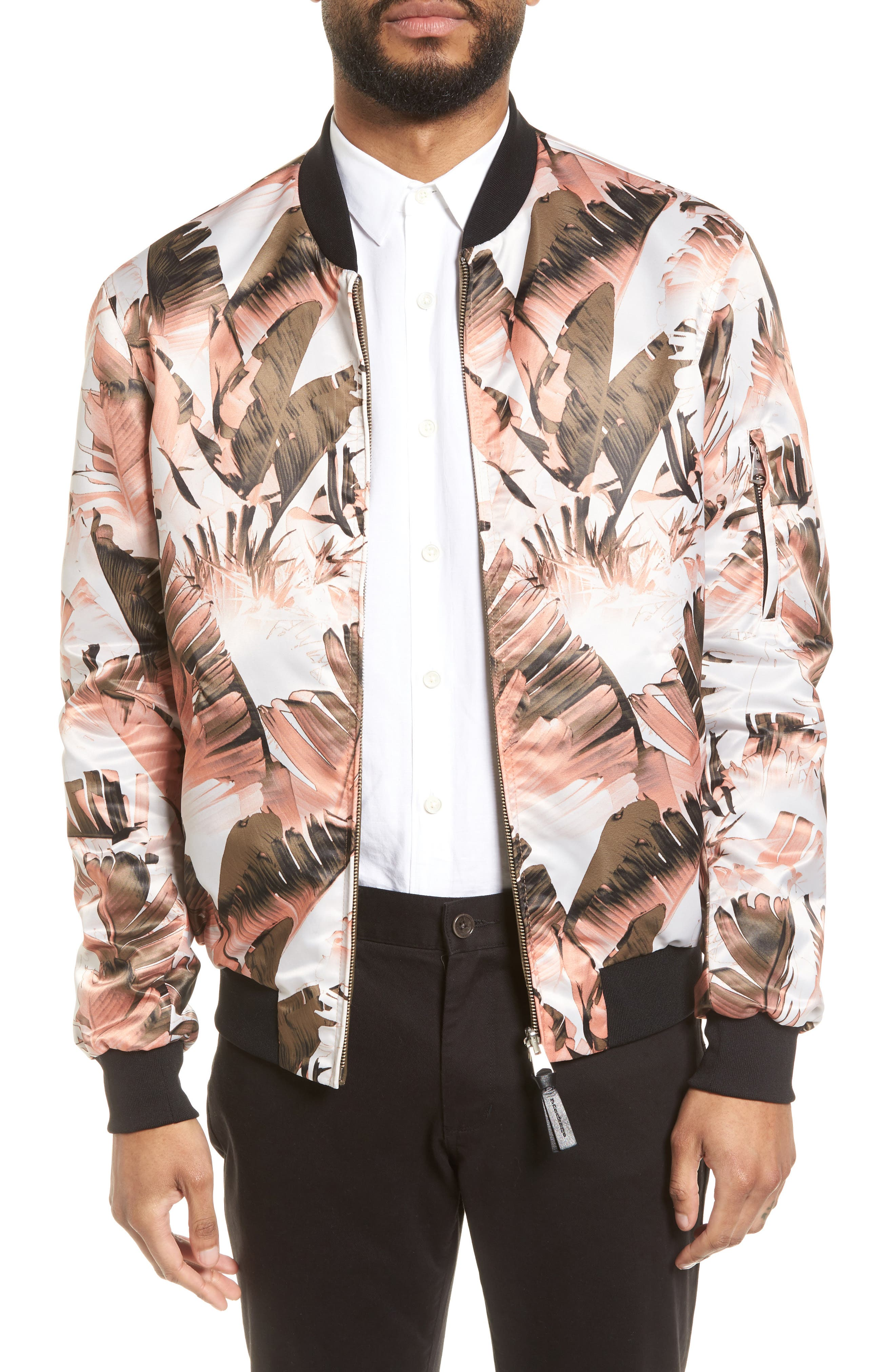 Reversible Bomber Jacket,                         Main,                         color, Leaf/ Army