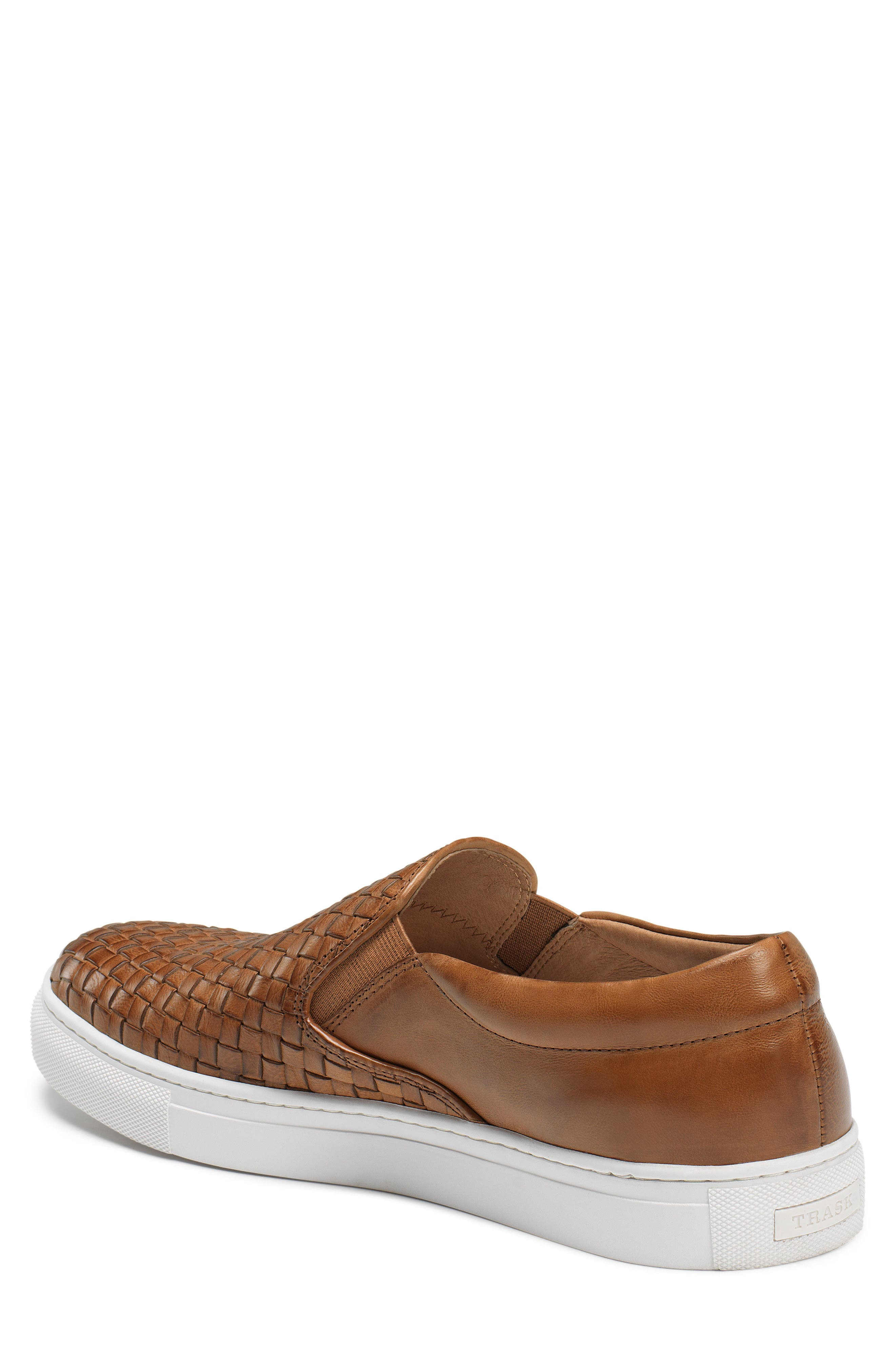 Alex Woven Slip-On Sneaker,                             Alternate thumbnail 2, color,                             Tan Leather