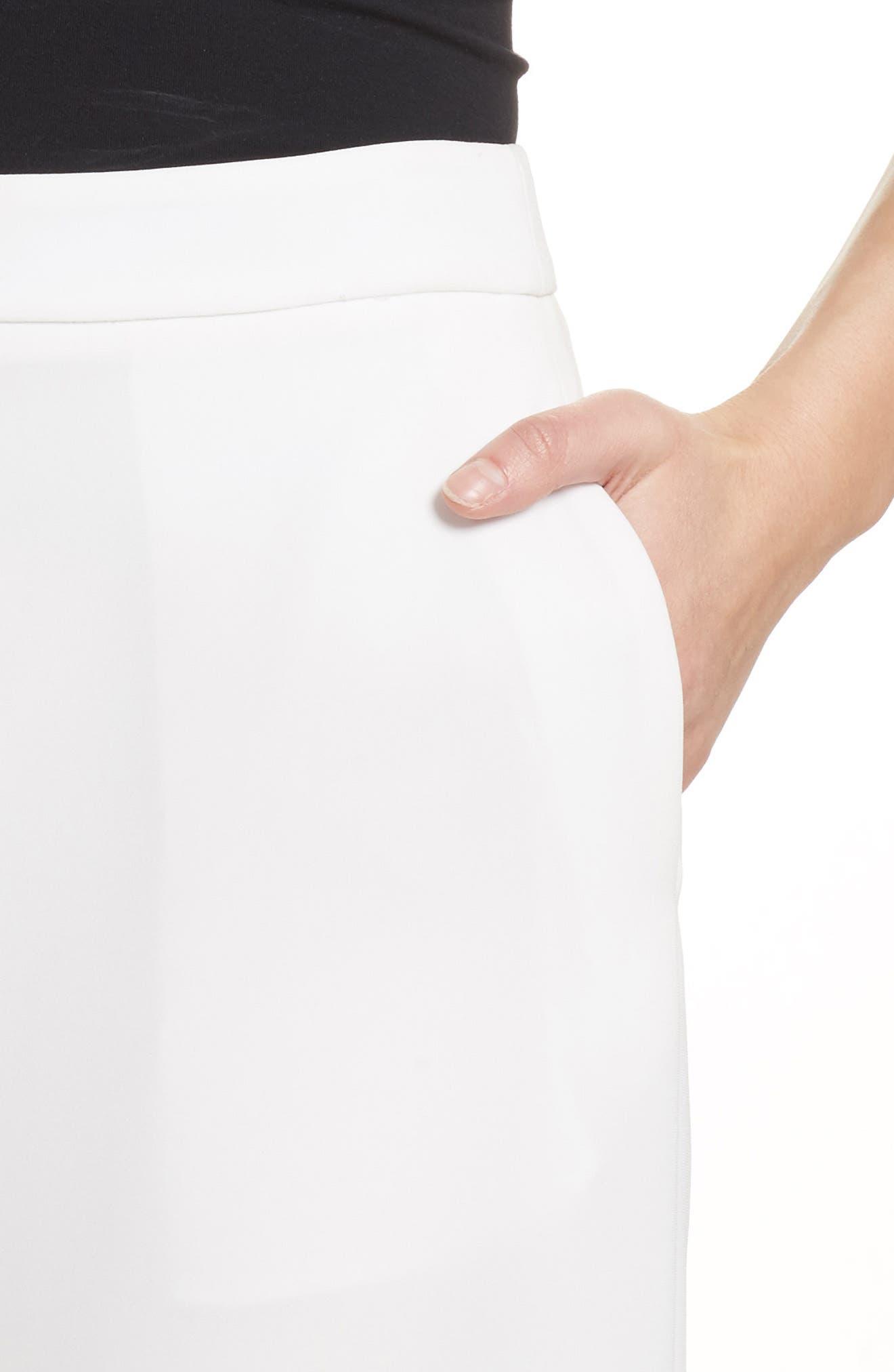 Marci Crop Wide Leg Pants,                             Alternate thumbnail 4, color,                             Chalk