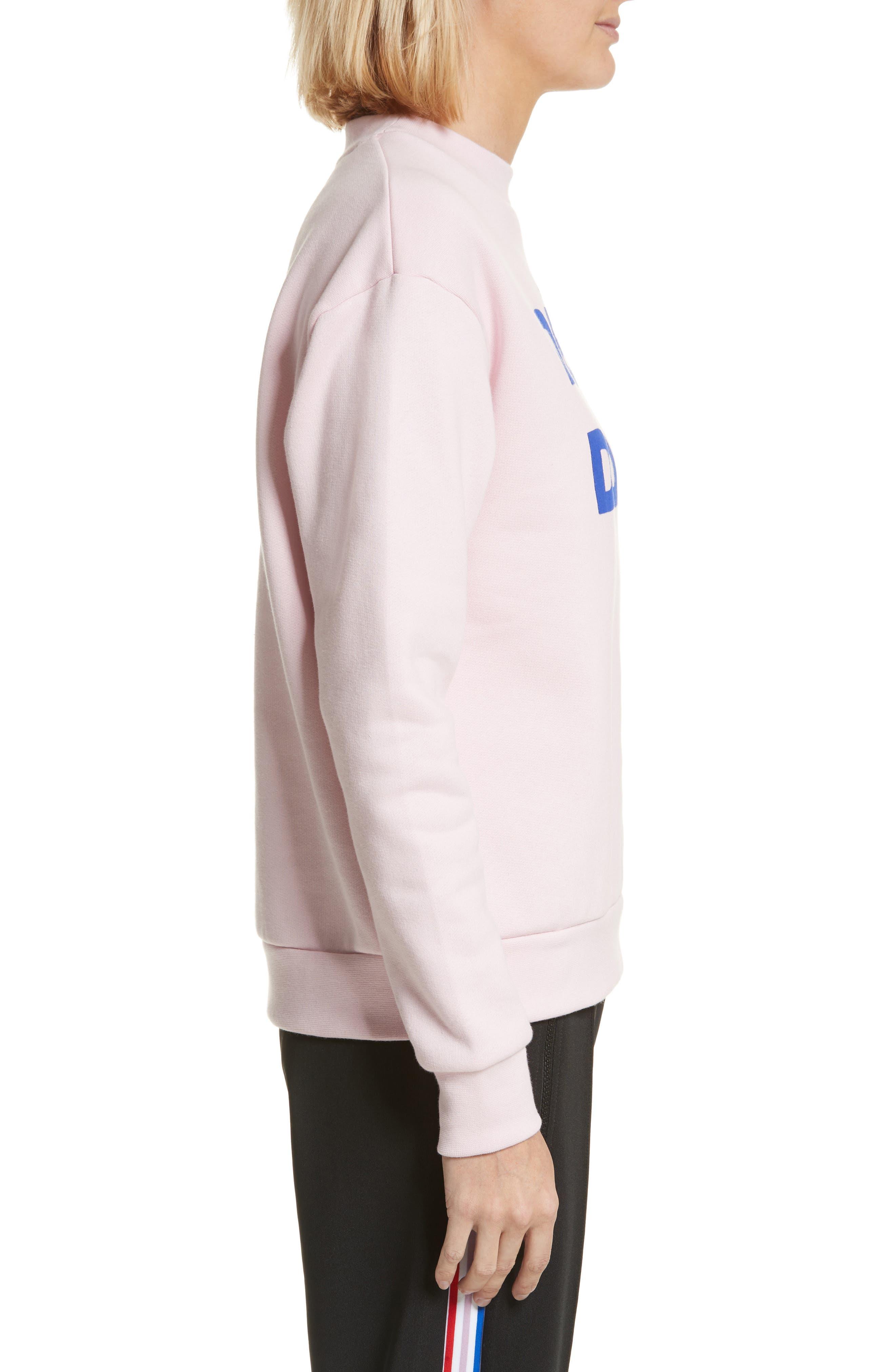 être cécile Déjà Dudé Boyfriend Sweatshirt,                             Alternate thumbnail 3, color,                             Chalk Pink