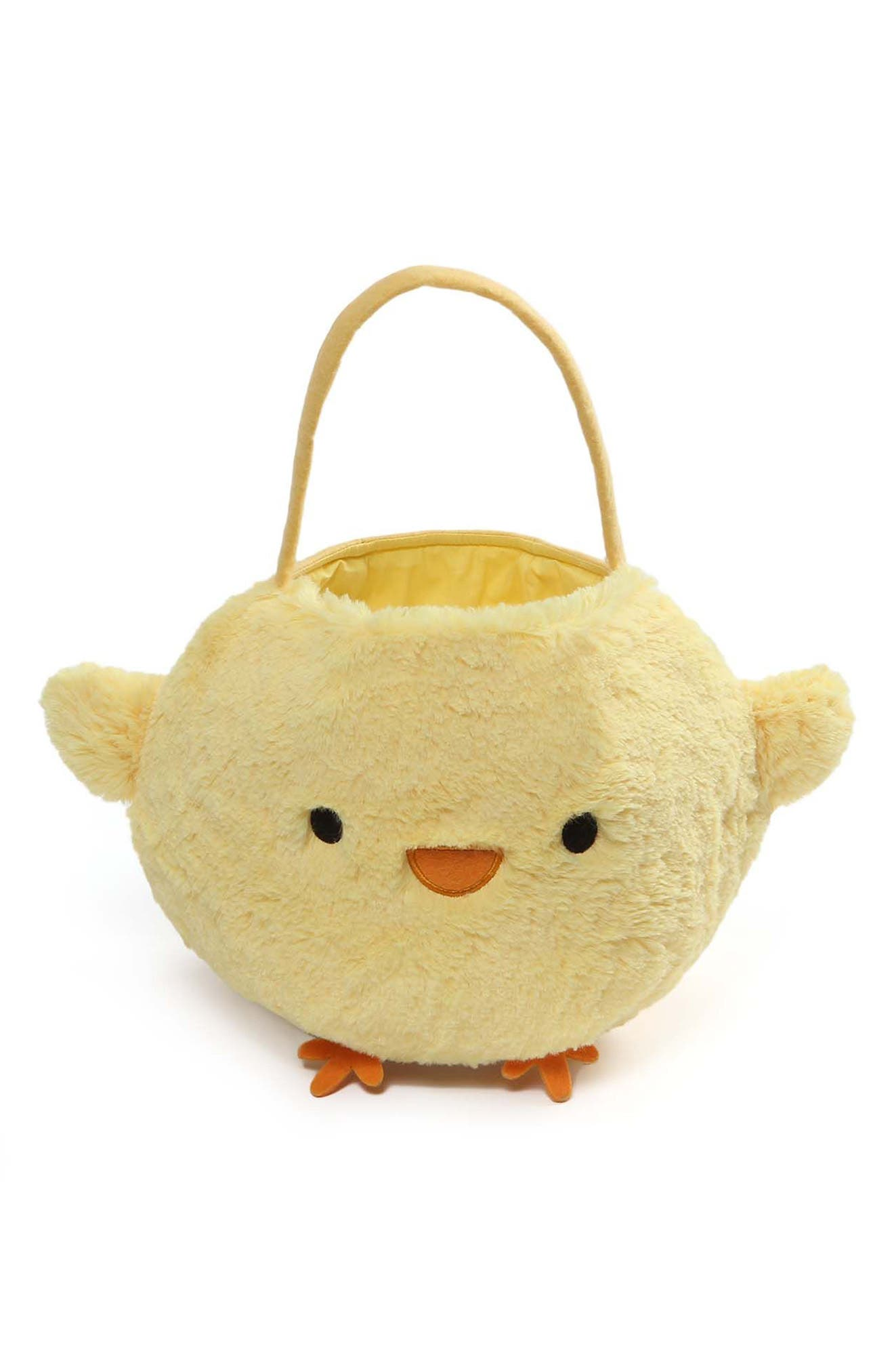 Baby Chick Plush Easter Basket,                         Main,                         color, Yellow