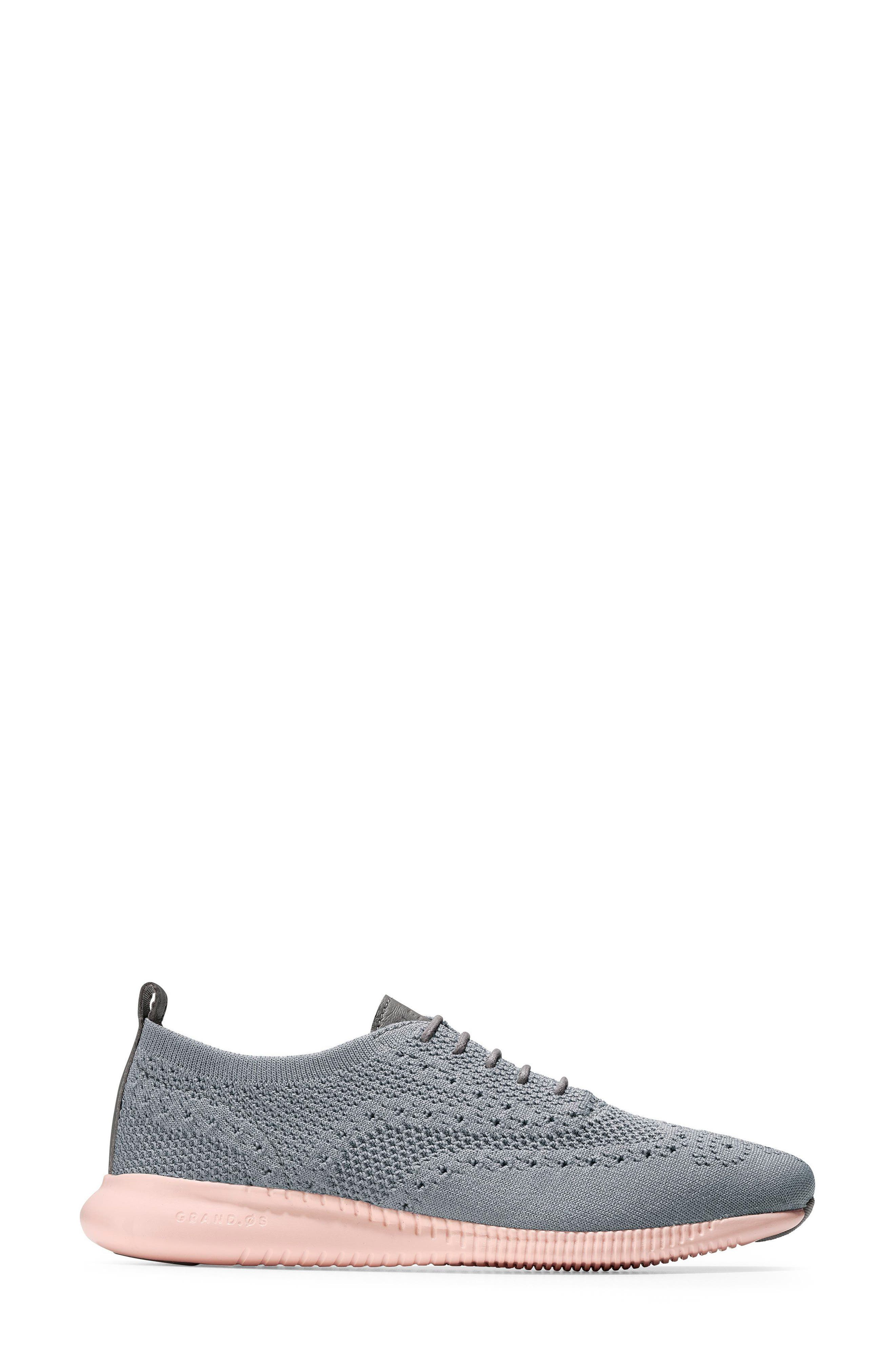 2.ZERØGRAND Stitchlite Wingtip Sneaker,                             Alternate thumbnail 3, color,                             Ironstone Knit Fabric