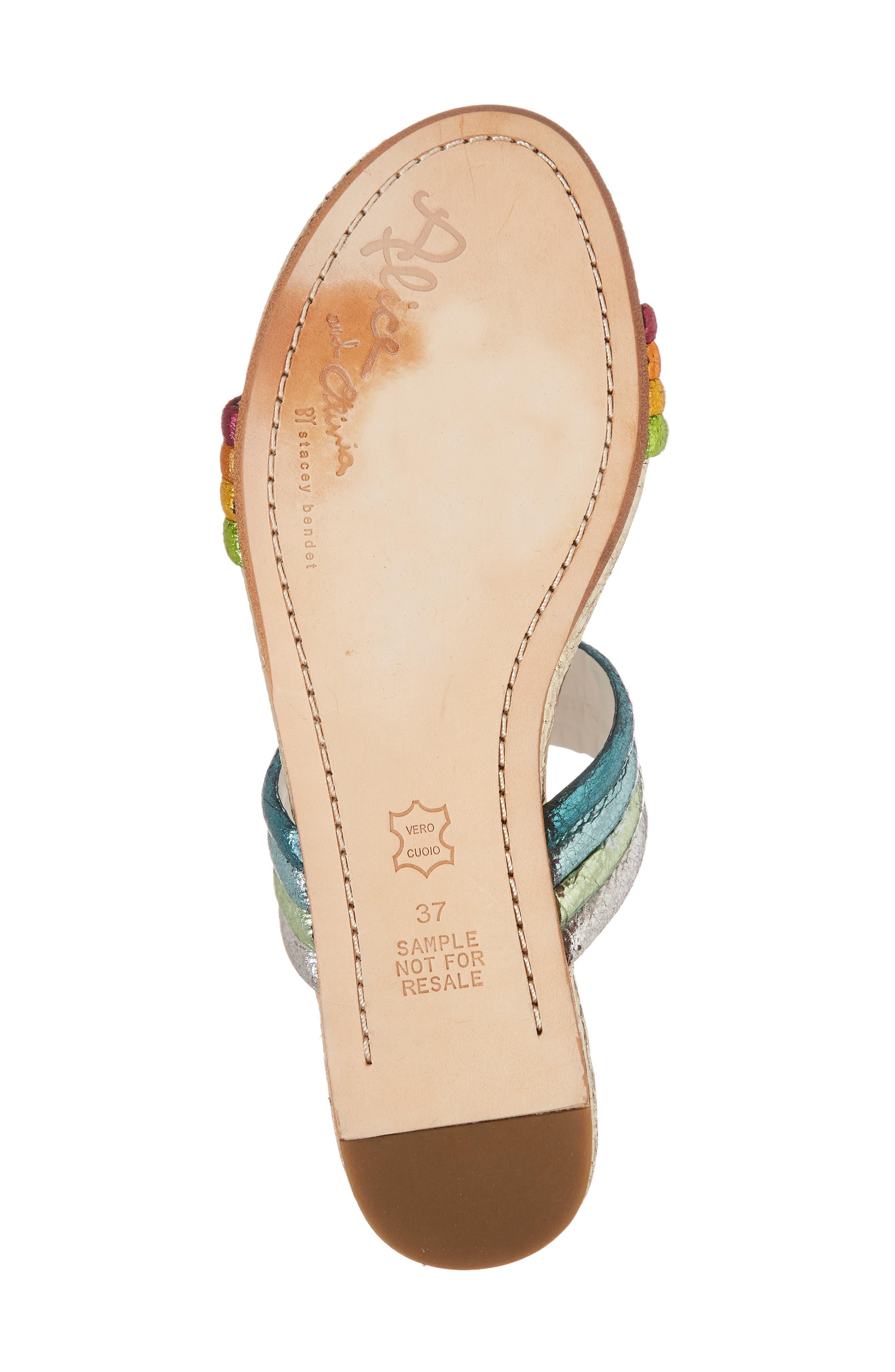 Anya Slide Sandal,                             Alternate thumbnail 6, color,                             Multi