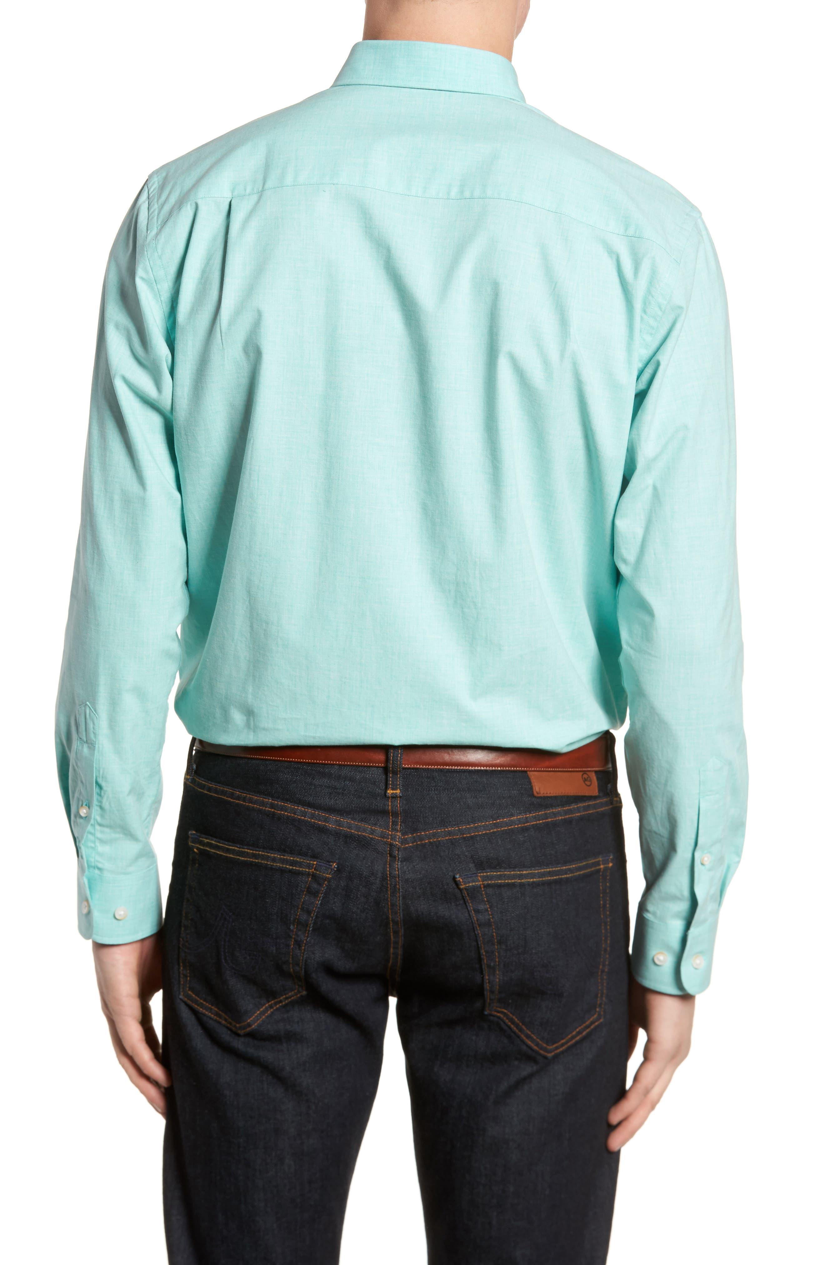 Alternate Image 2  - Cutter & Buck Heather Classic Fit No-Iron Sport Shirt