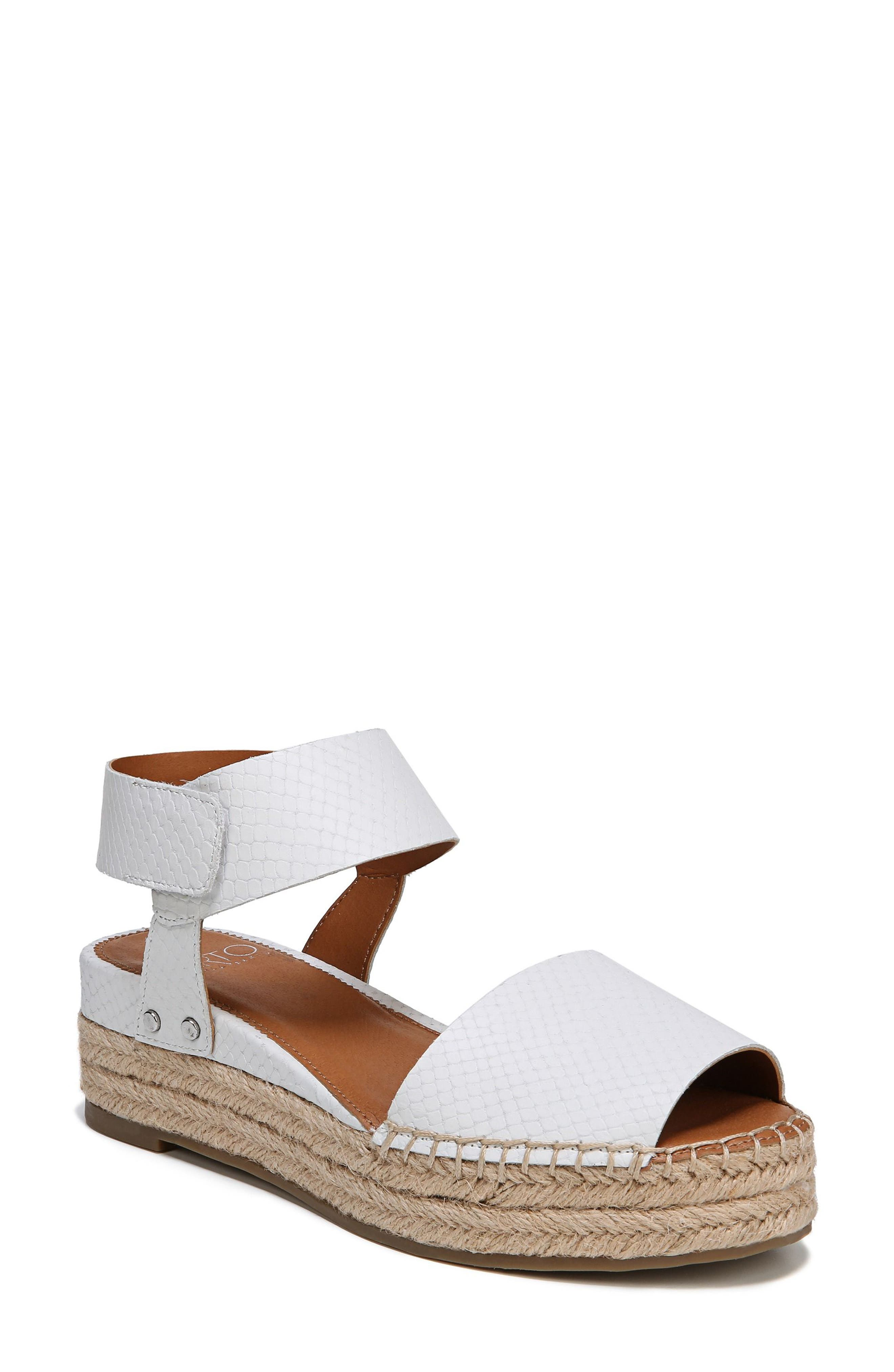 Oak Platform Wedge Espadrille,                             Main thumbnail 1, color,                             Blanca Printed Leather