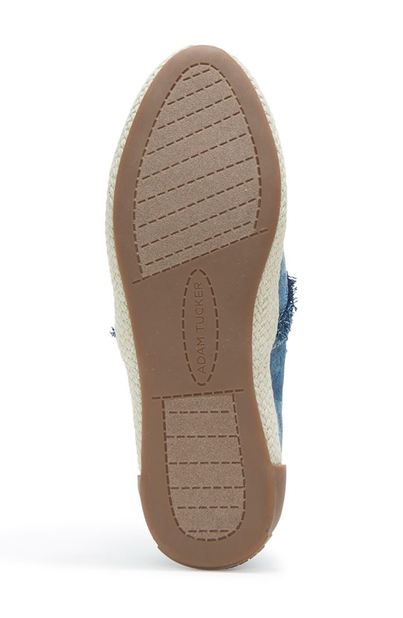 Adam Tucker Marin Slip-On Sneaker,                             Alternate thumbnail 6, color,                             Blue Champagne Denim Fabric