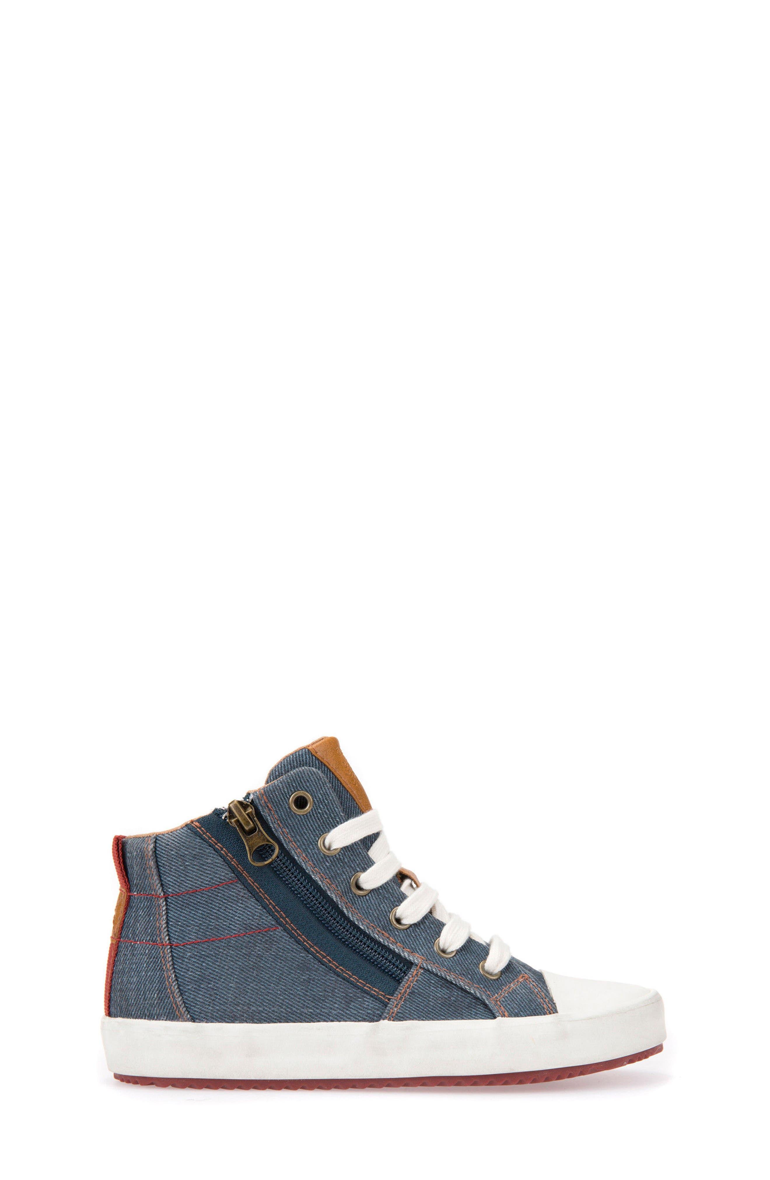Alonisso High Top Sneaker,                             Alternate thumbnail 3, color,                             Blue/ Dark Red