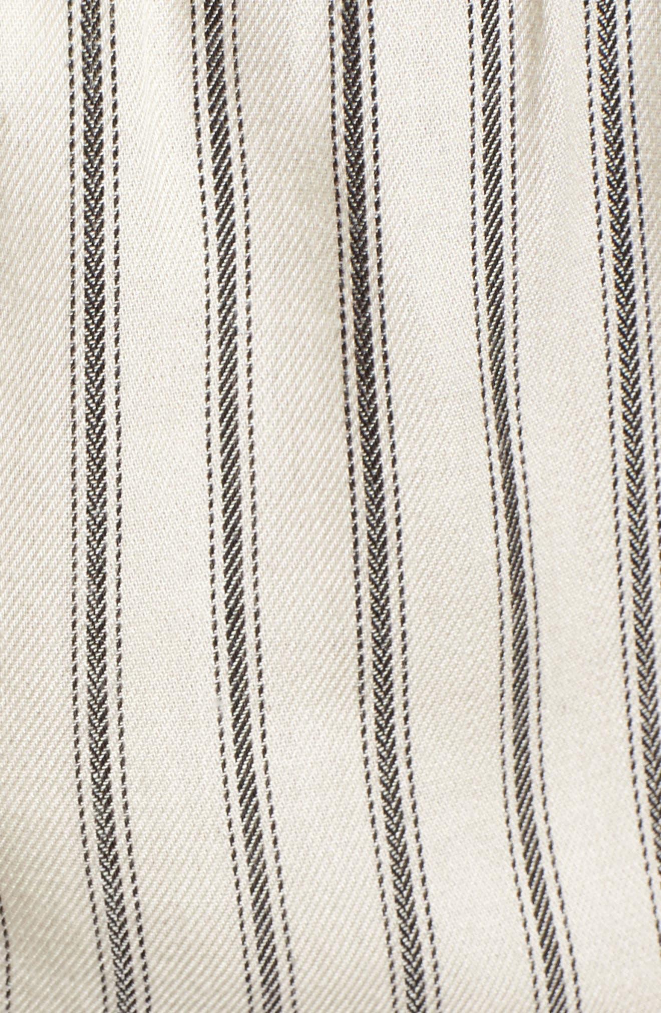Lace Trim Crop Top,                             Alternate thumbnail 5, color,                             Ivory