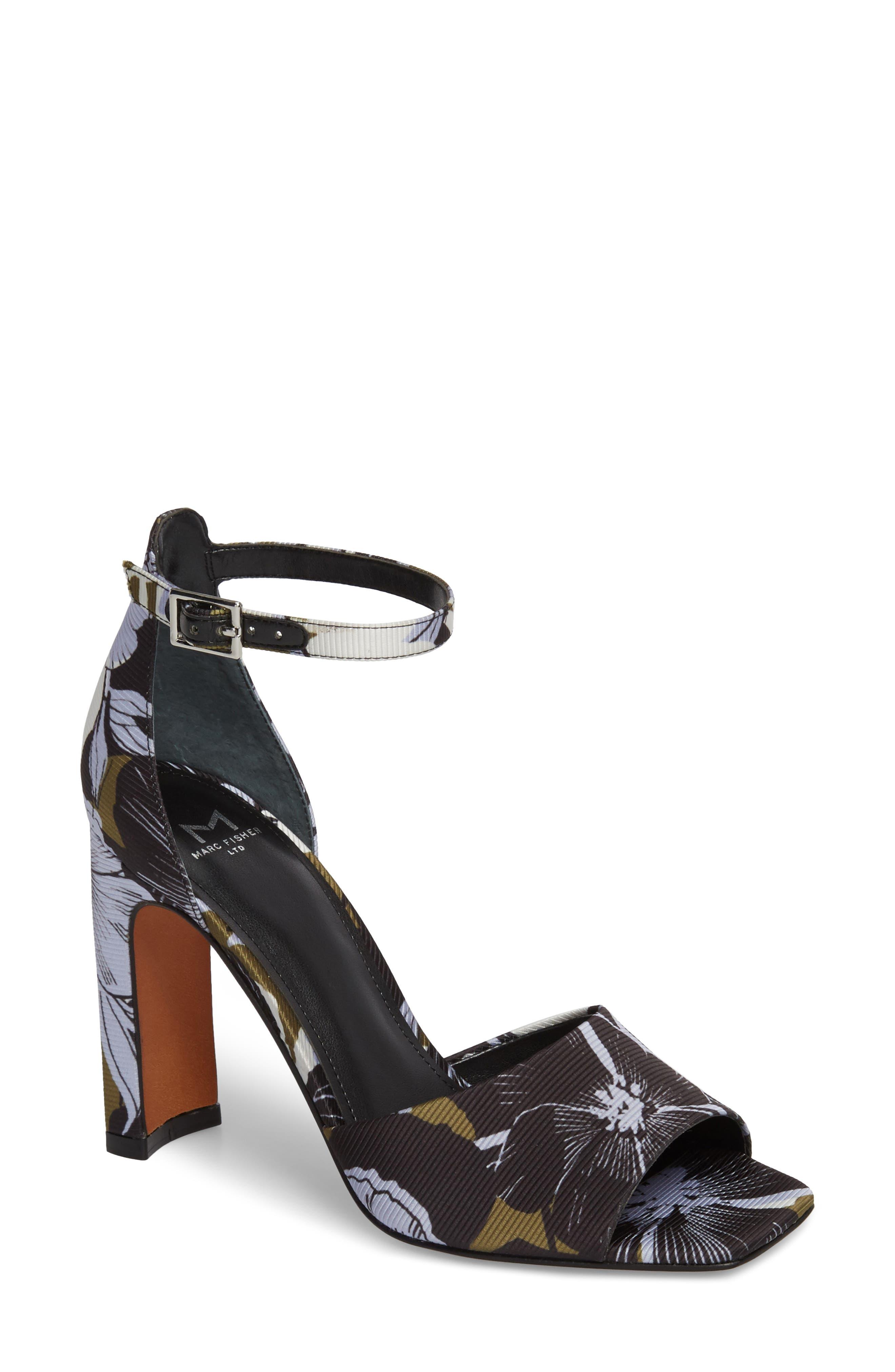 Harlin Ankle Strap Sandal,                         Main,                         color, Jungle Print Fabric