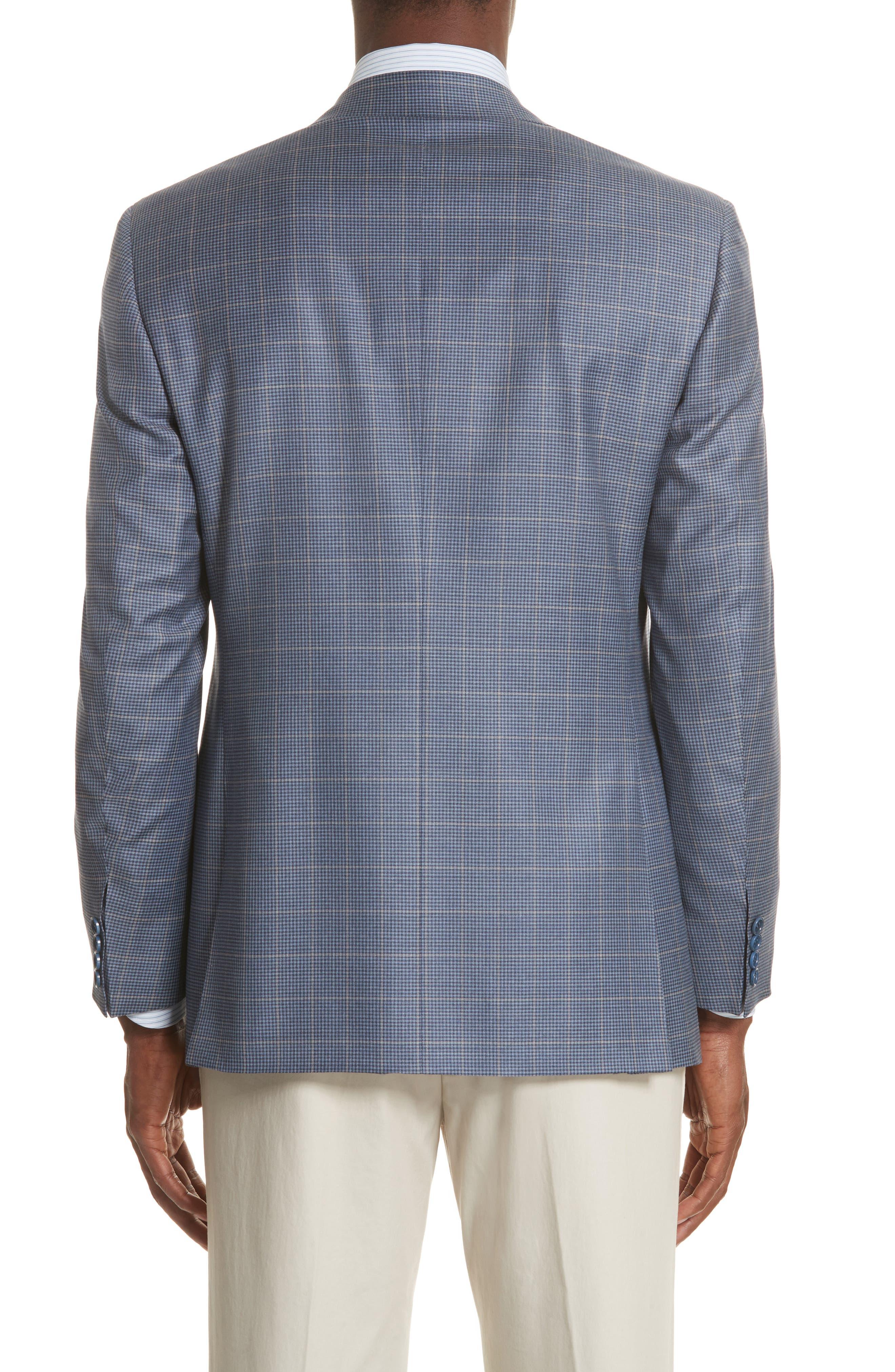 Alternate Image 2  - Canali Classic Fit Windowpane Wool Sport Coat