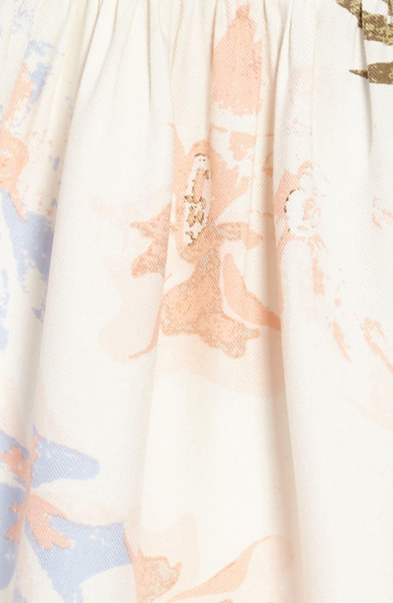 Alternate Image 3  - O'Neill Britt Flutter Sleeve Dress (Toddler Girls & Little Girls)