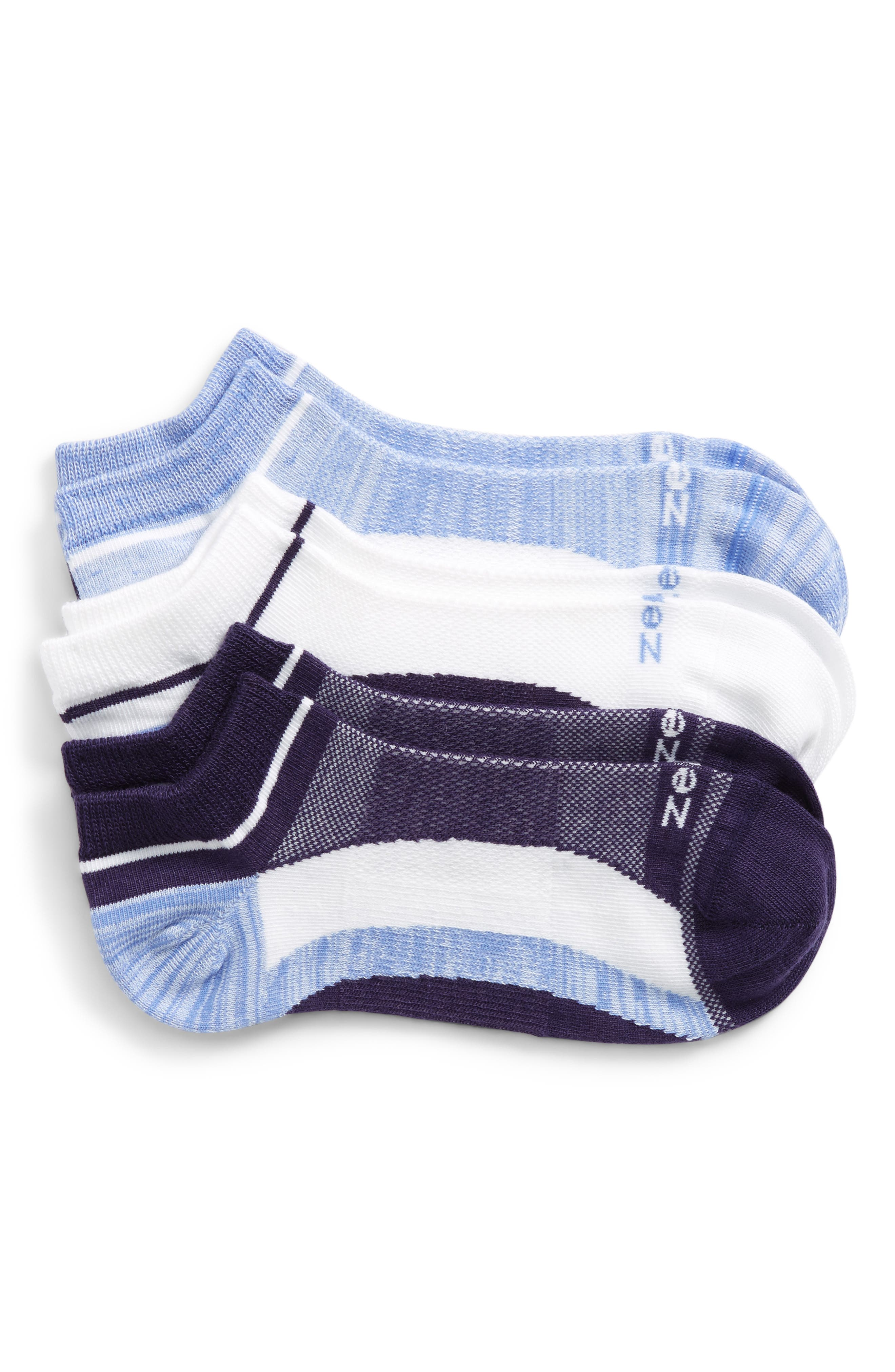 Zella 'Fitness' Liner Socks (3-Pack)