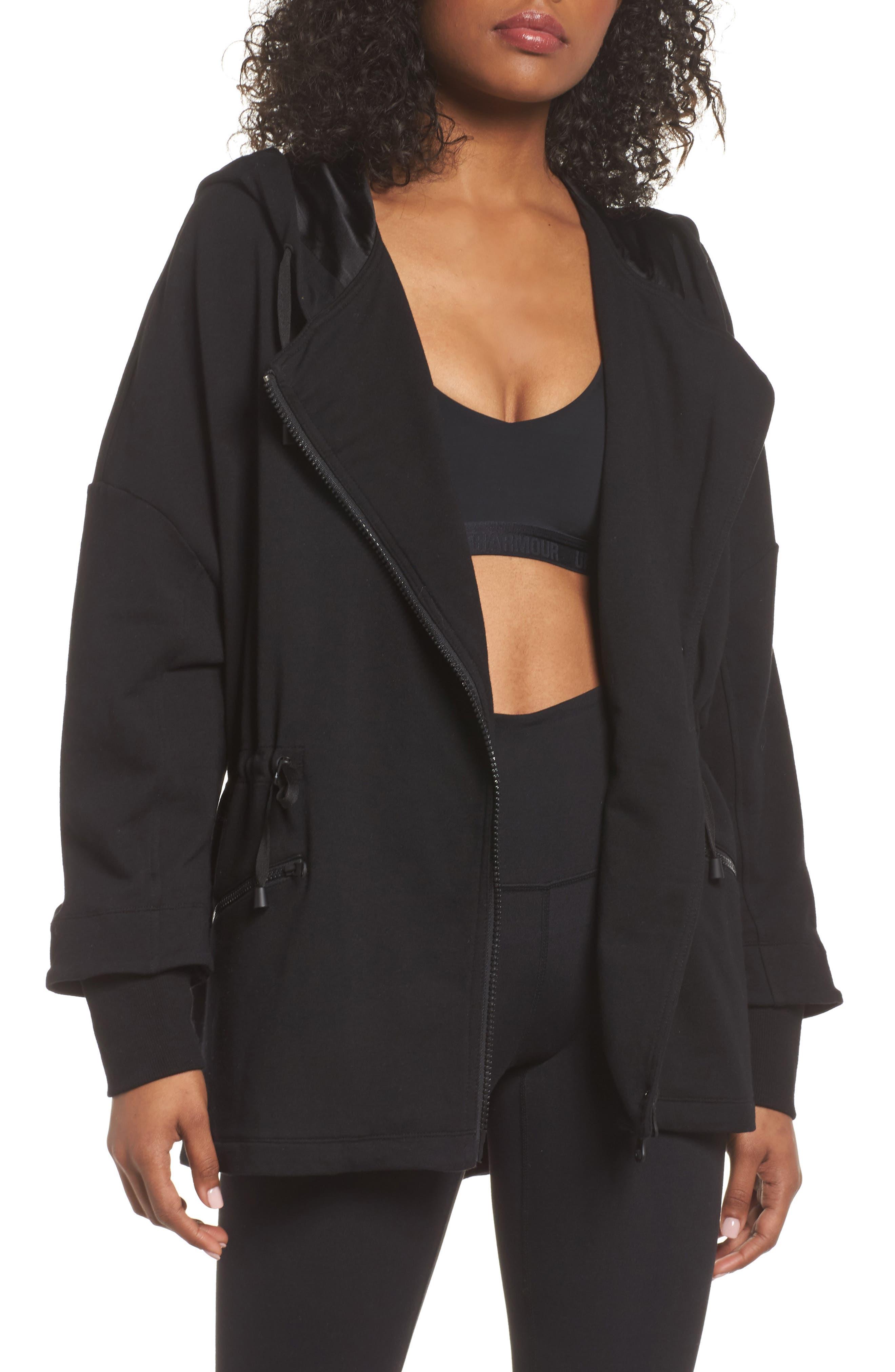 Blanc noir lace coat over dress