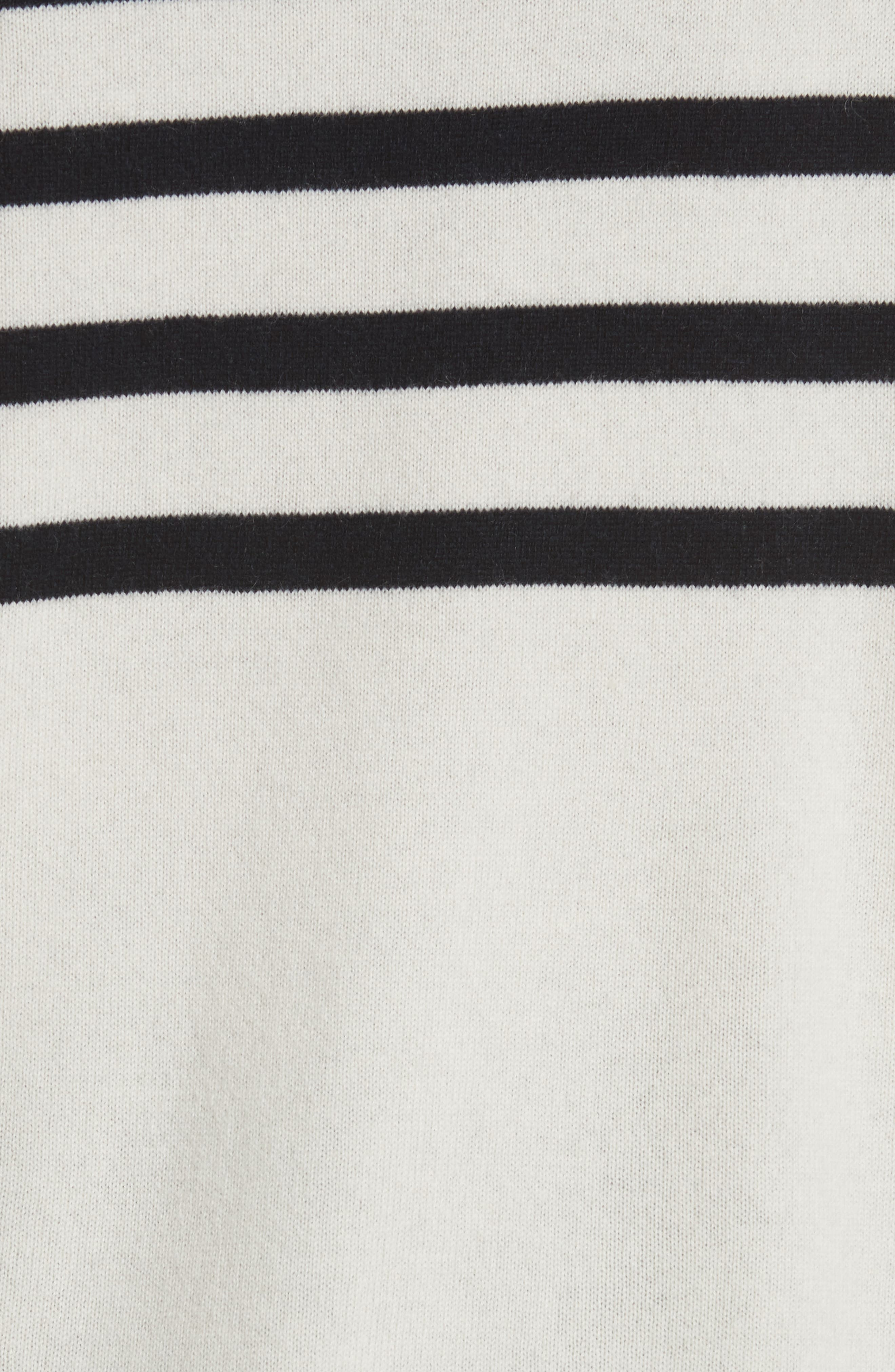 Sandra Cashmere Sweater,                             Alternate thumbnail 5, color,                             New Ivory / Tory Navy