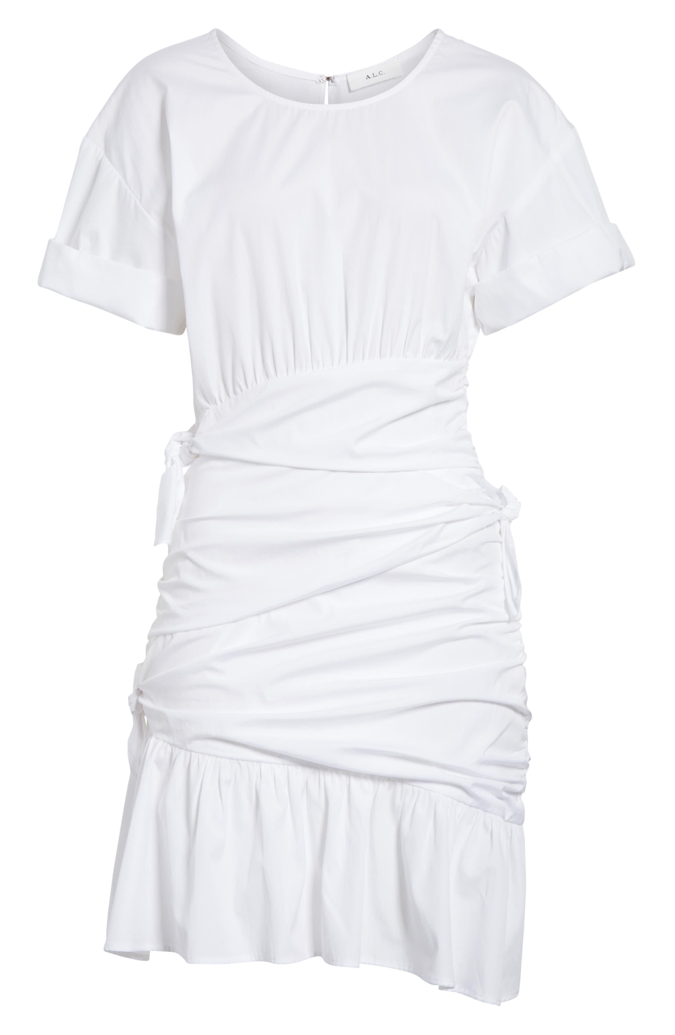 Cassian Cotton Dress,                             Alternate thumbnail 6, color,                             White