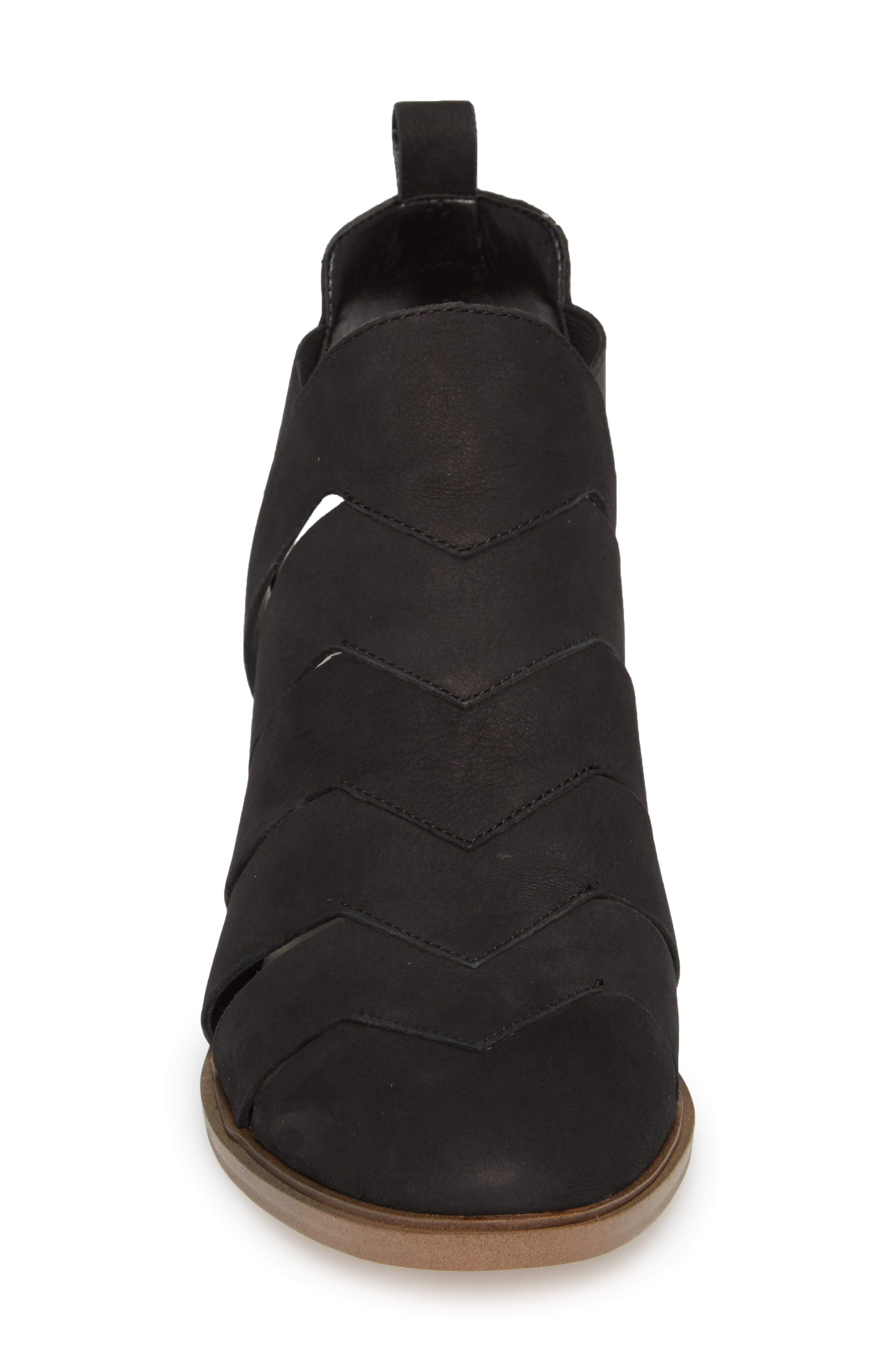 Amilee Bootie,                             Alternate thumbnail 4, color,                             Black Nubuck Leather