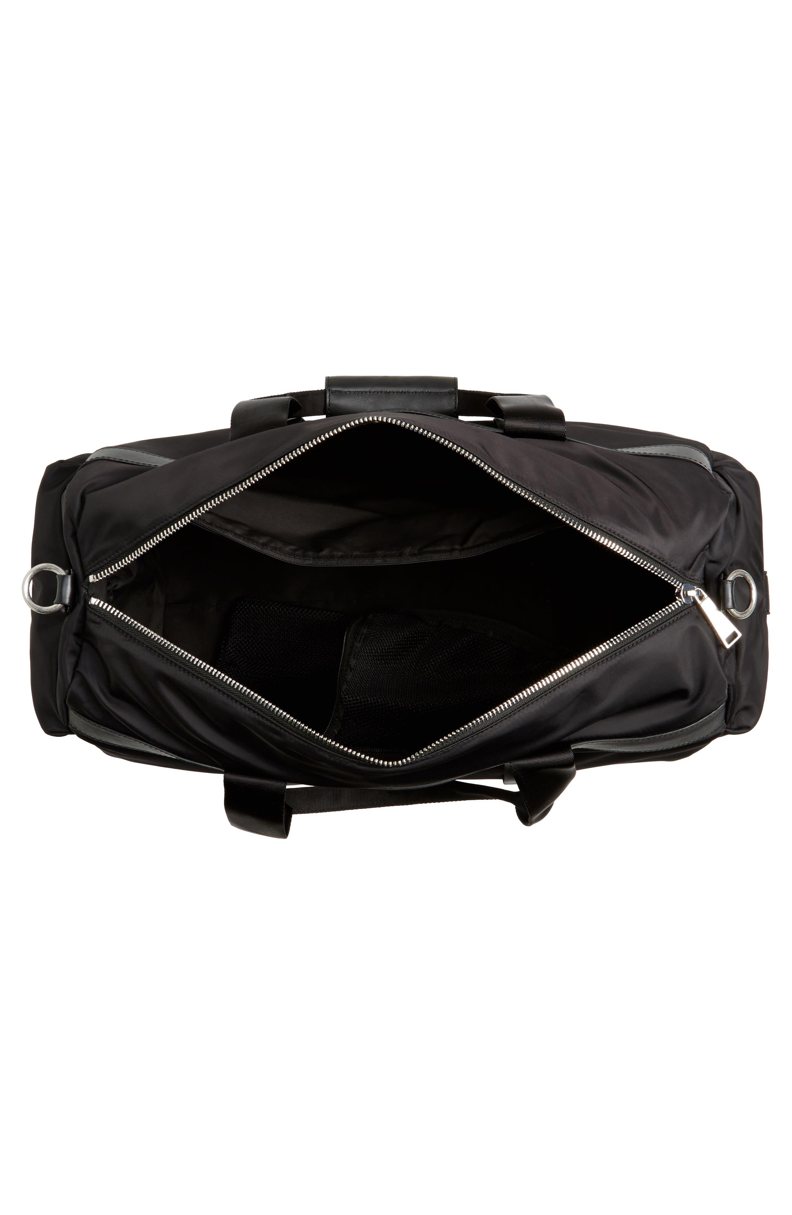 Washington Grand City Duffel Bag,                             Alternate thumbnail 4, color,                             Black
