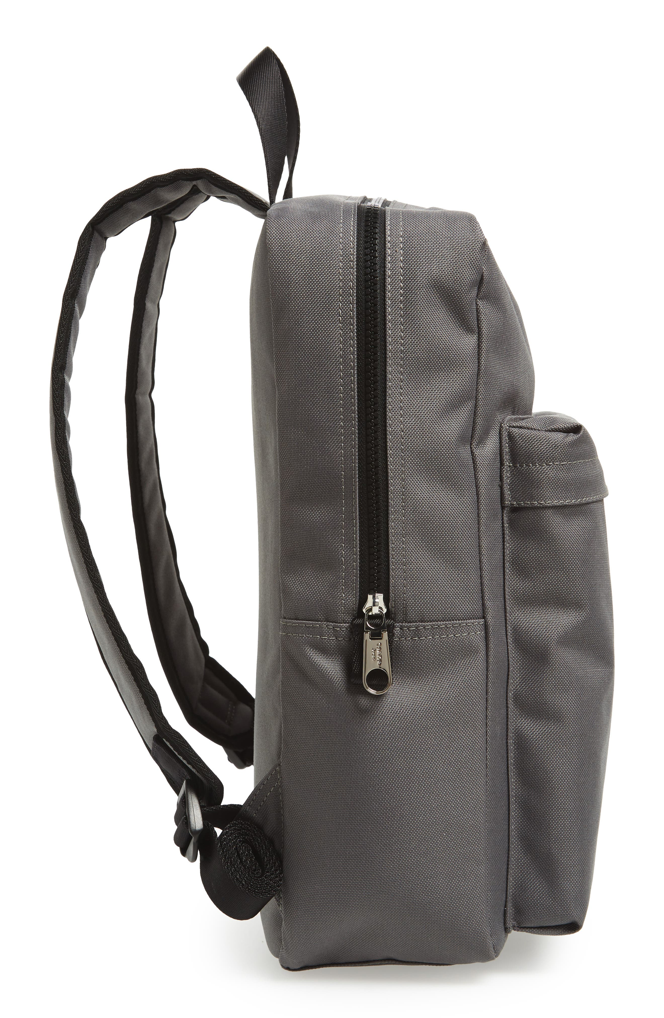 Slim Square Backpack,                             Alternate thumbnail 5, color,                             Charcoal