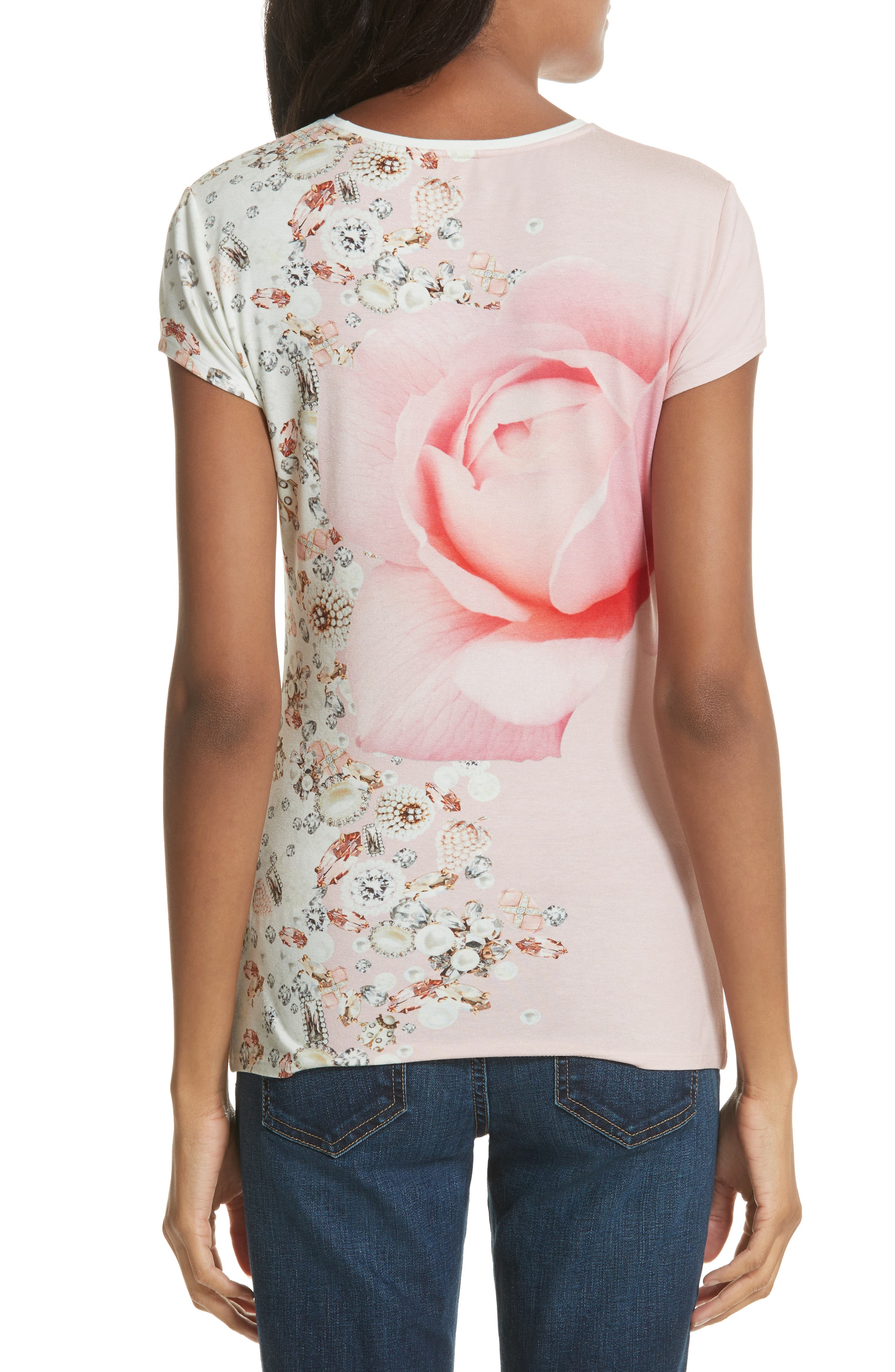 Blenheim Jewels Fitted Tee,                             Alternate thumbnail 2, color,                             Natural