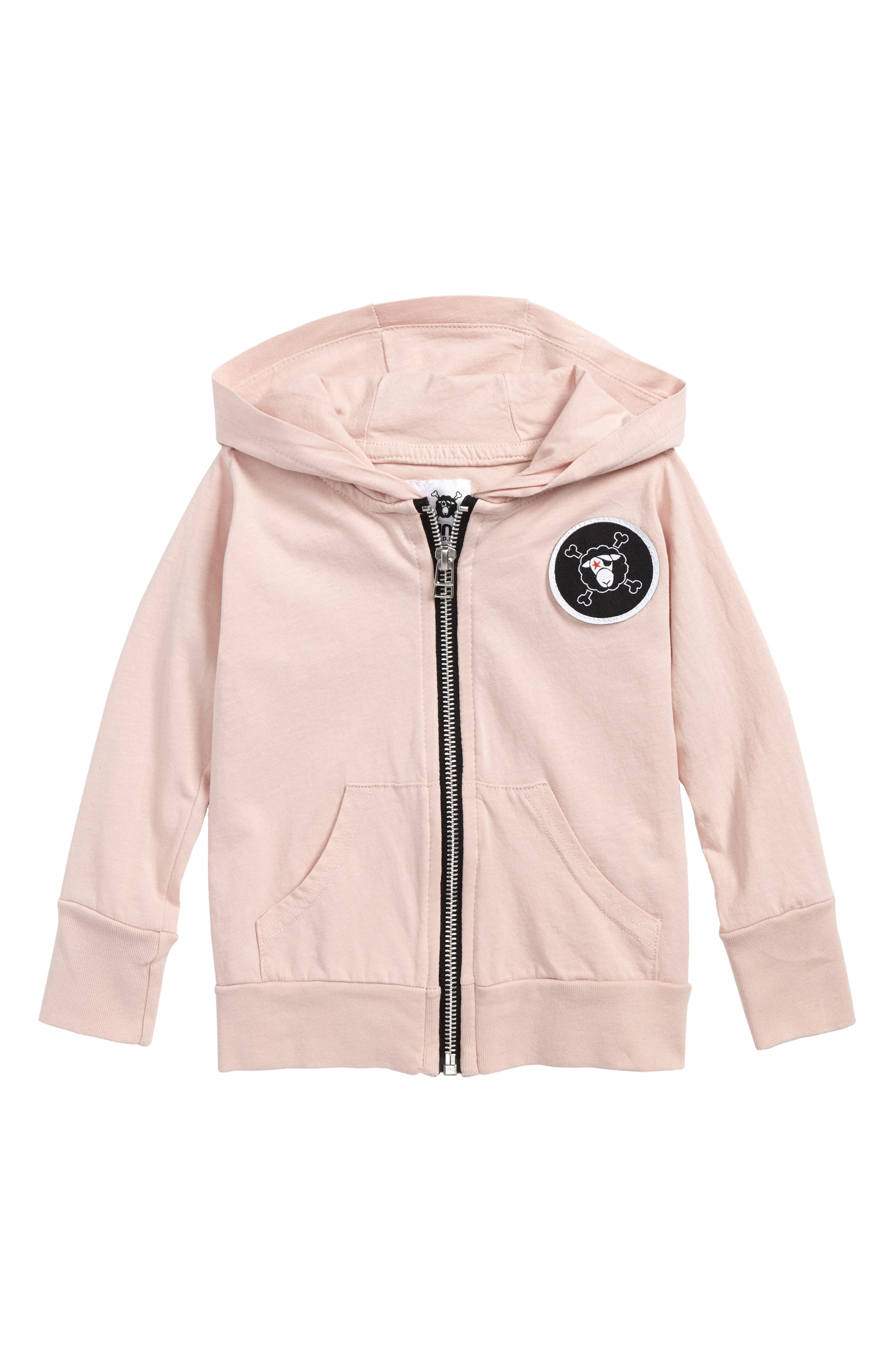 Patch Hoodie,                         Main,                         color, Powder Pink