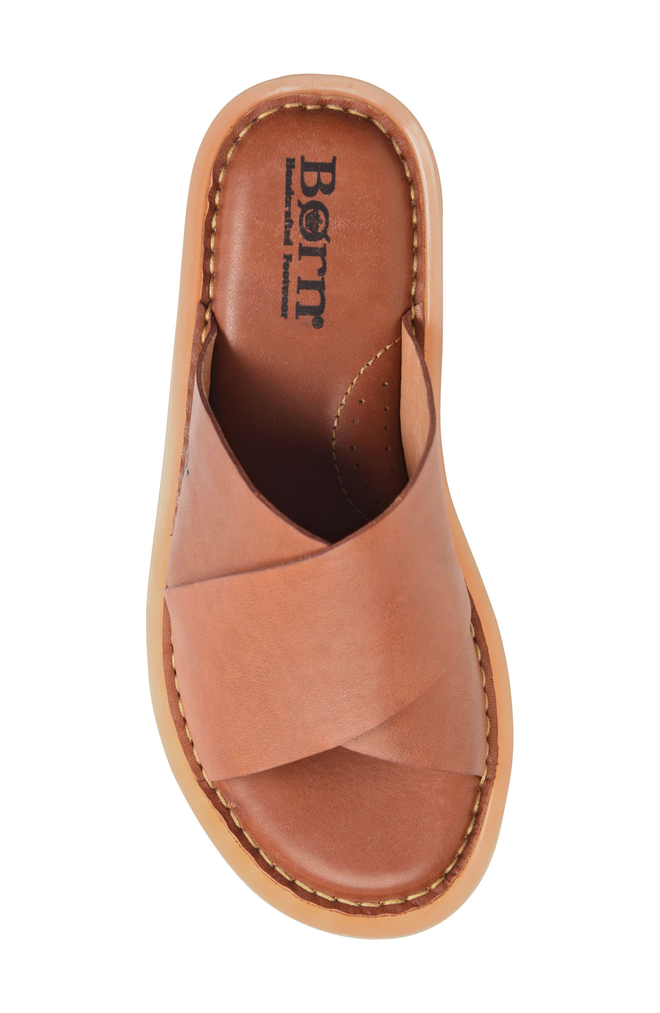 Getaway Slide Sandal,                             Alternate thumbnail 5, color,                             Rust Leather