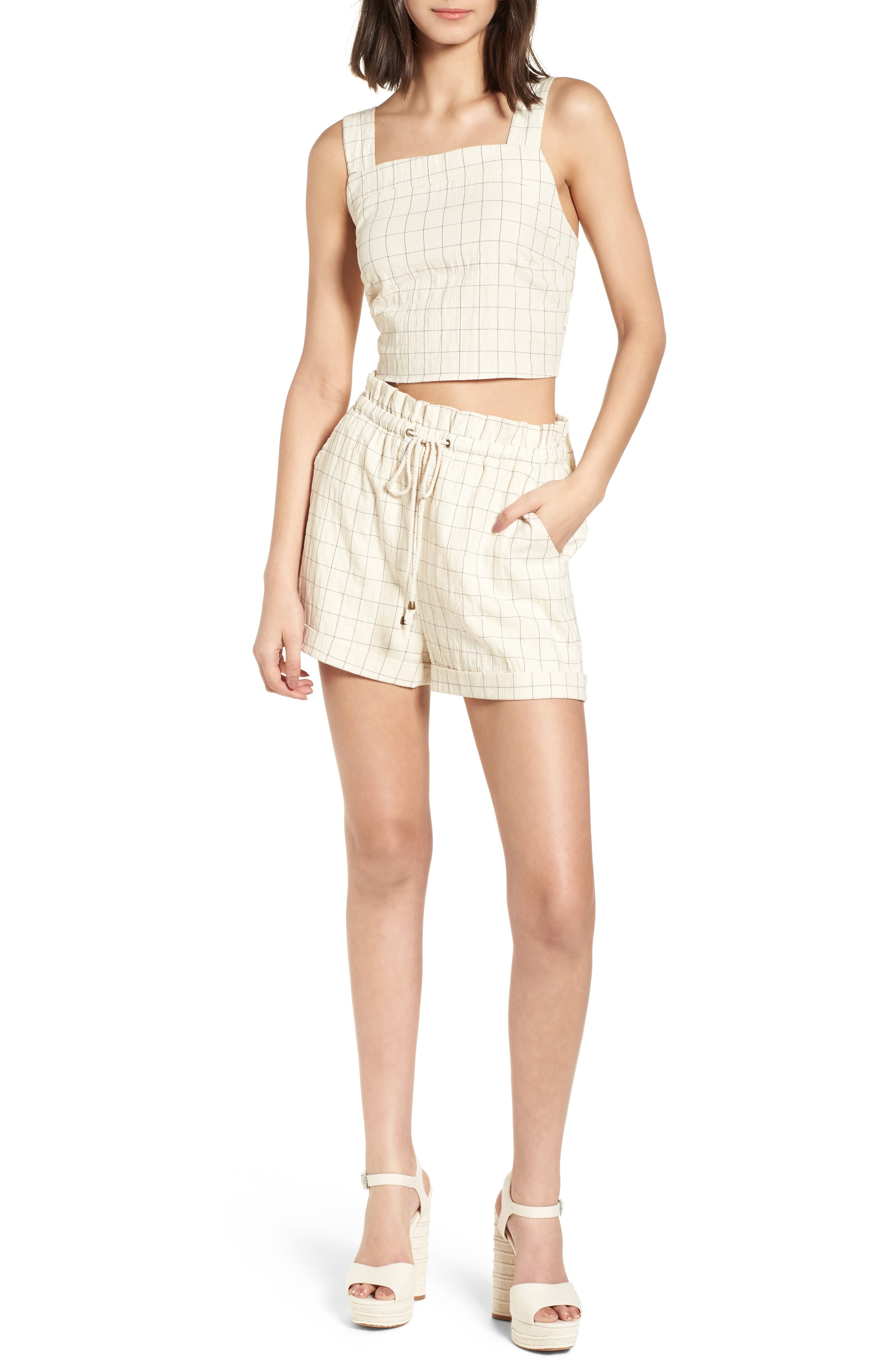 Drawstring Woven Shorts,                             Alternate thumbnail 7, color,                             Beige