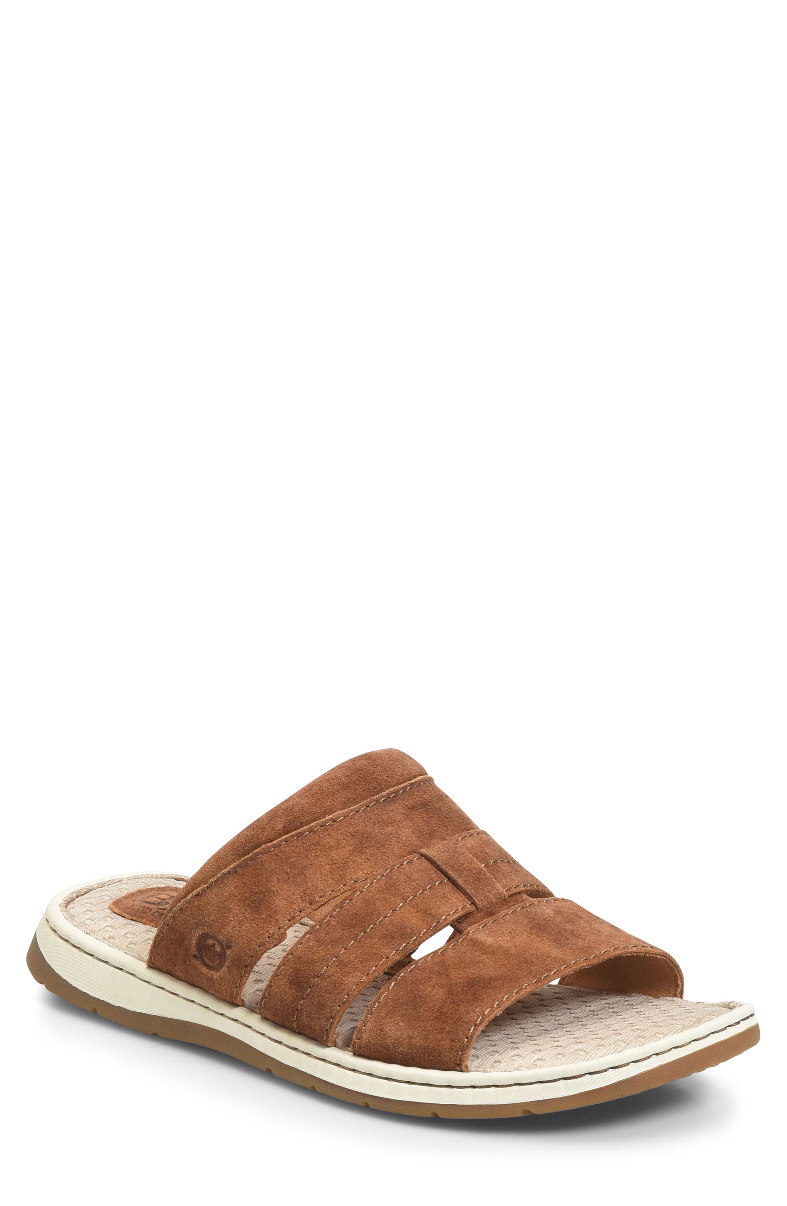 Sail Slide Sandal,                             Main thumbnail 1, color,                             Rust Leather