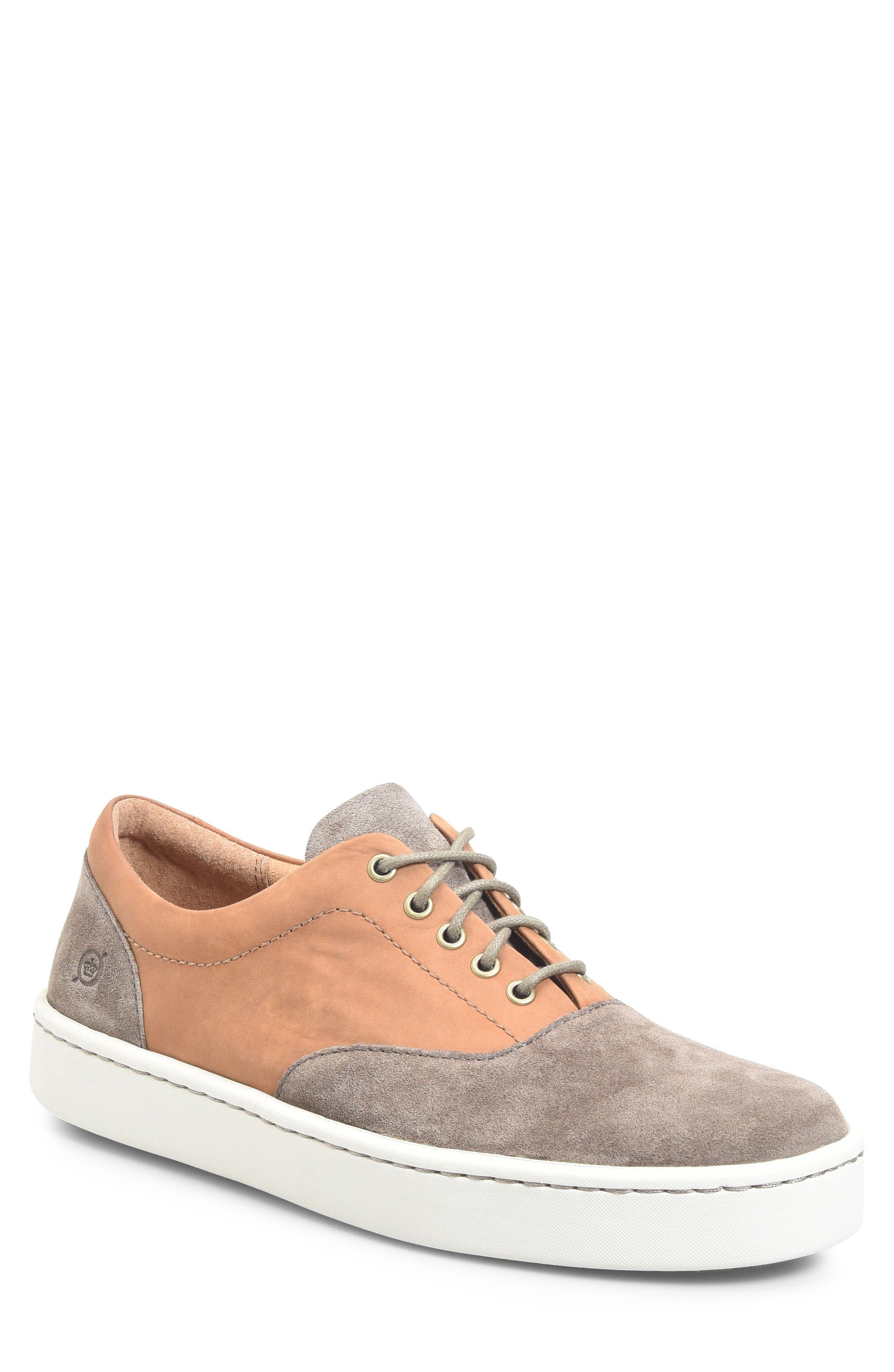 Keystone Low Top Sneaker,                             Main thumbnail 1, color,                             Taupe Leather